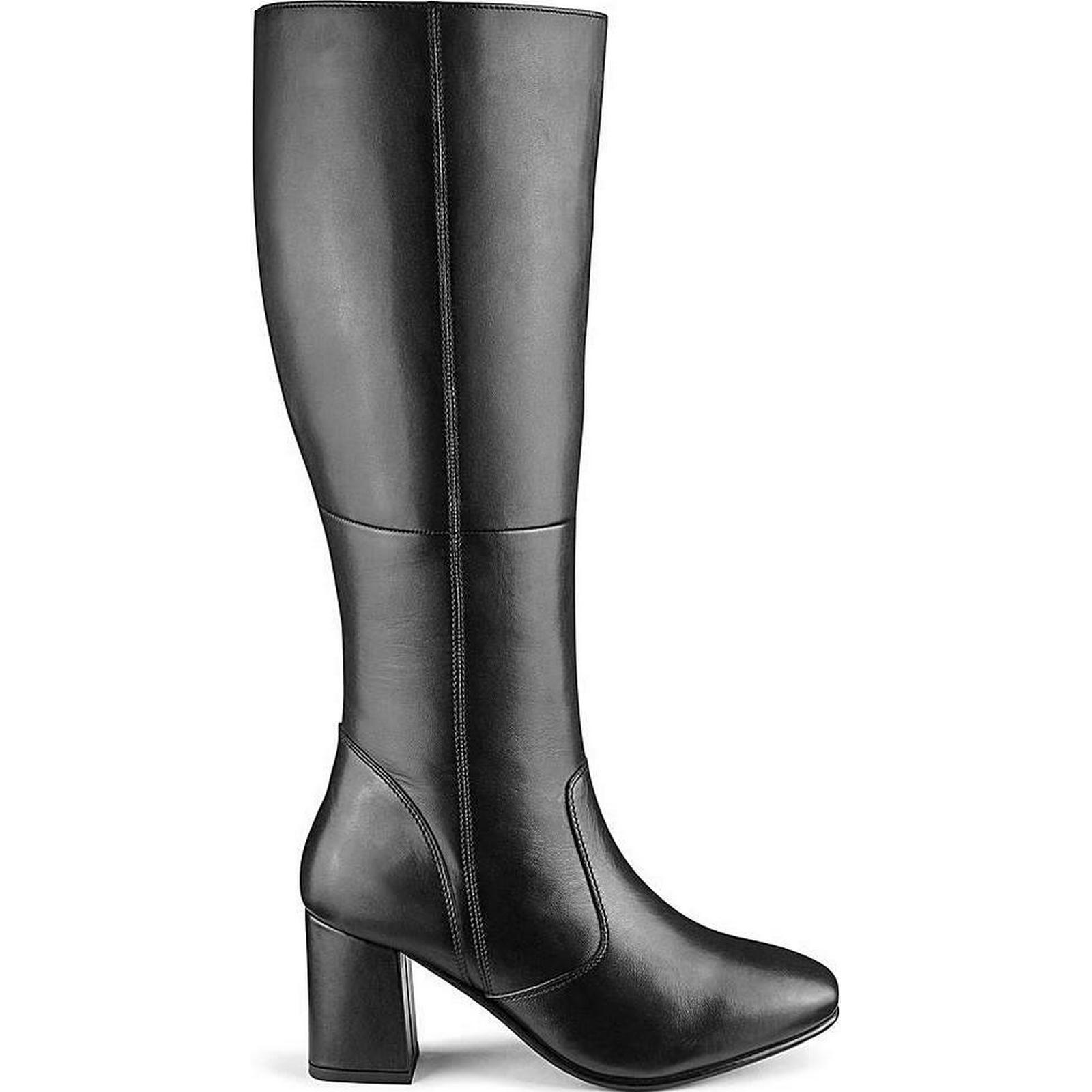 Heavenly Soles Leather Boots Plus EEE Fit Curvy Plus Boots Calf 13f09a
