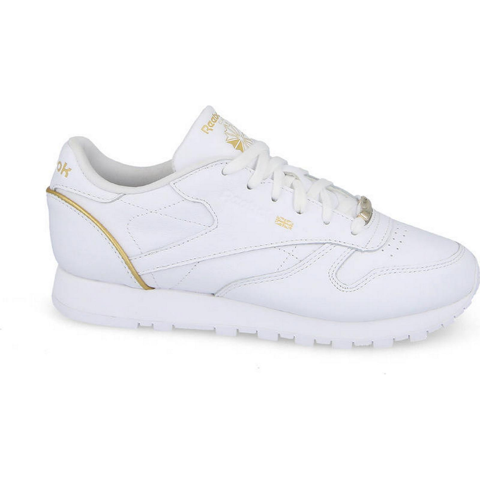 Reebok Hw Classic Women's Shoes sneakers Reebok Classic Leather Hw Reebok BS9878 WHITE Size 38 e8e667