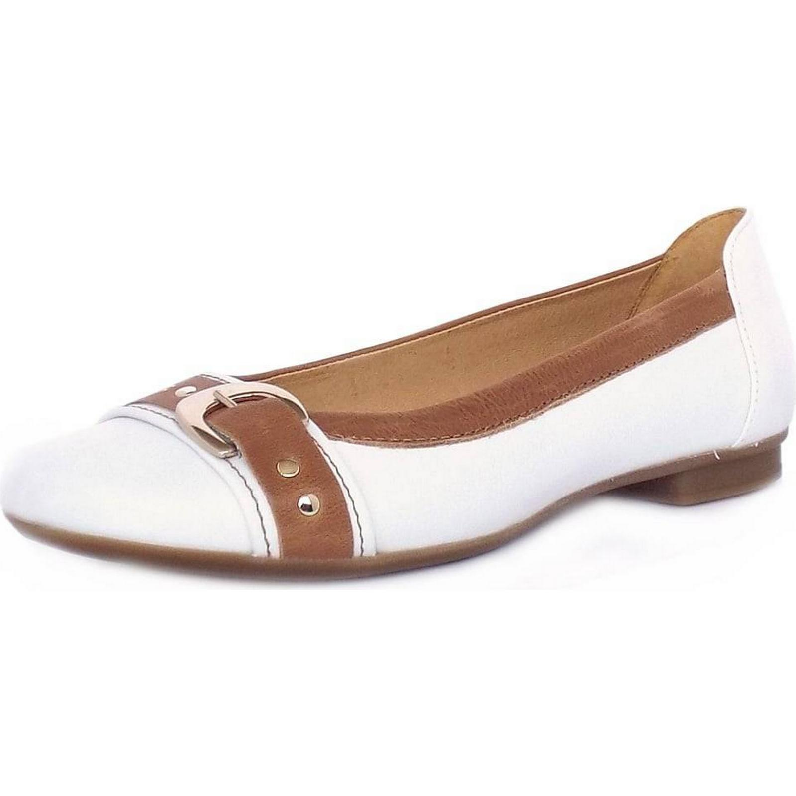 Gabor INDIANA GABOR 20MM CASUAL WHITE PUMPS Size: 5, Colour: WHITE CASUAL 4fad43