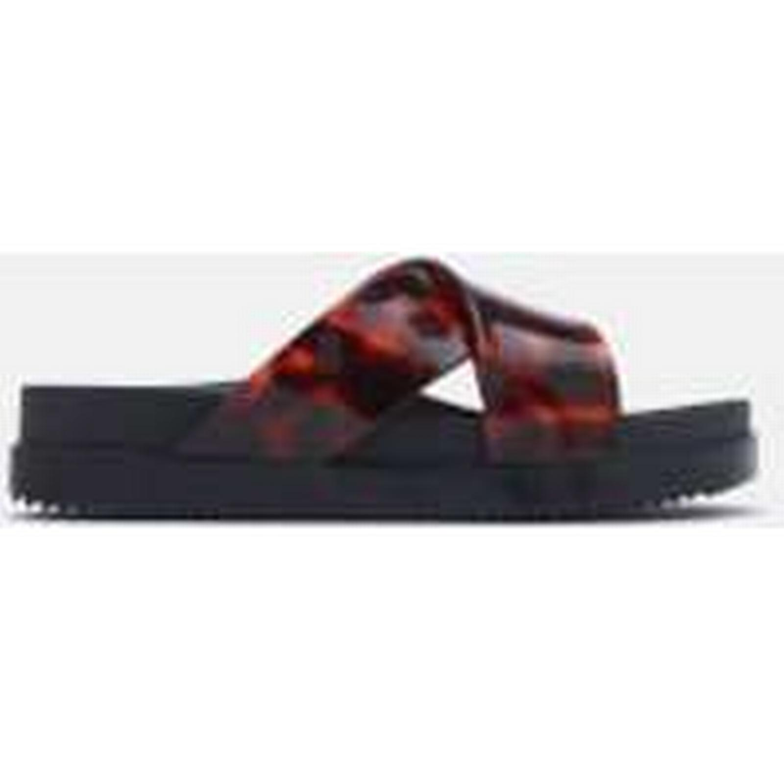 Melissa Women's Cosmic Cross Tortoiseshell Flatform Sandals - Black Tortoiseshell Cross - UK 3 - Black d973bc