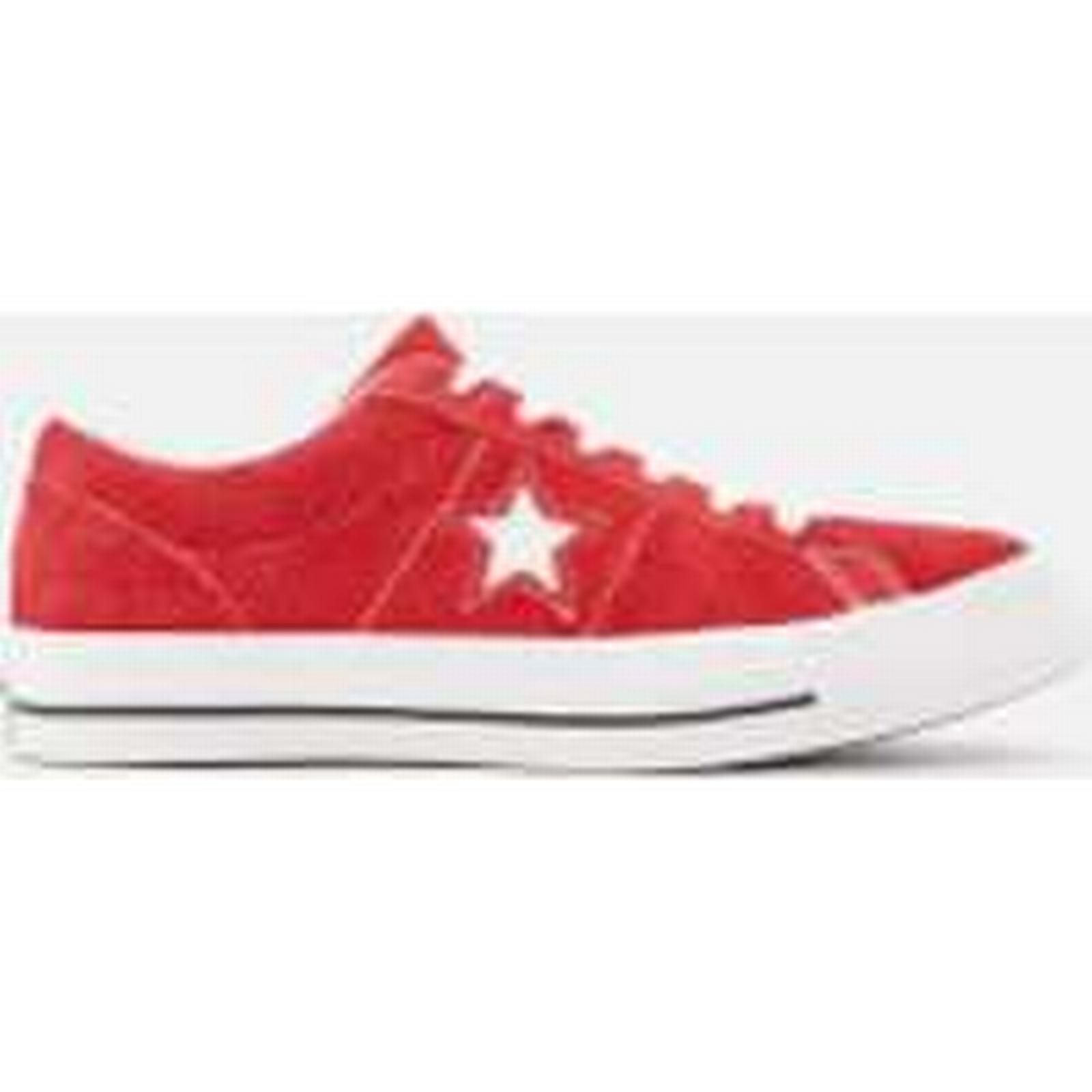 Converse One Red/White Star Ox Trainers - Red/White One - UK 10 - Red b503dd