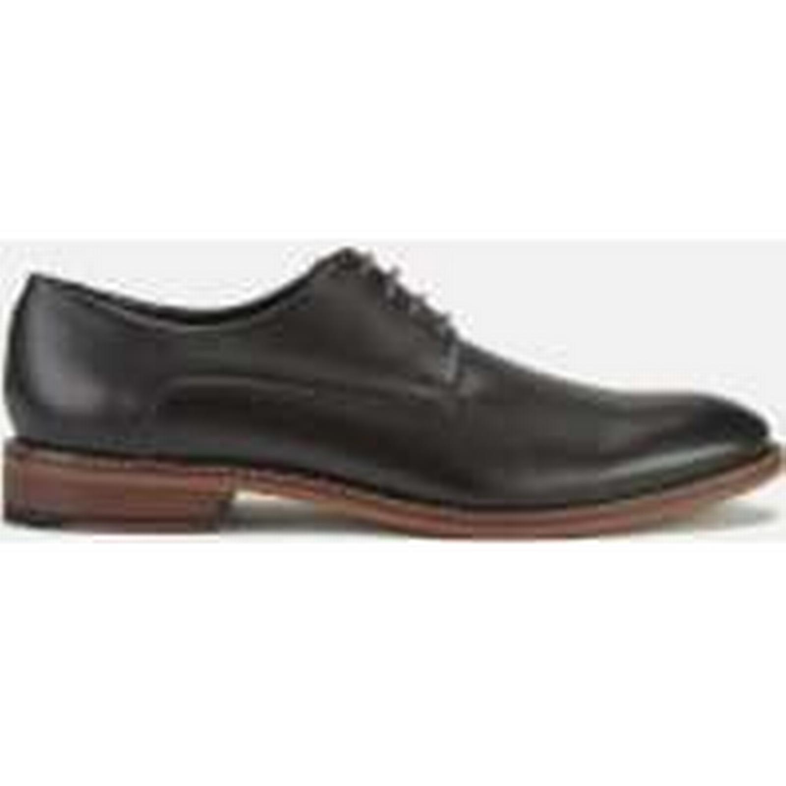 Ted Baker Derby Men's Irron 3 Leather Derby Baker Shoes - Black - UK 9.5 - Black c0f847