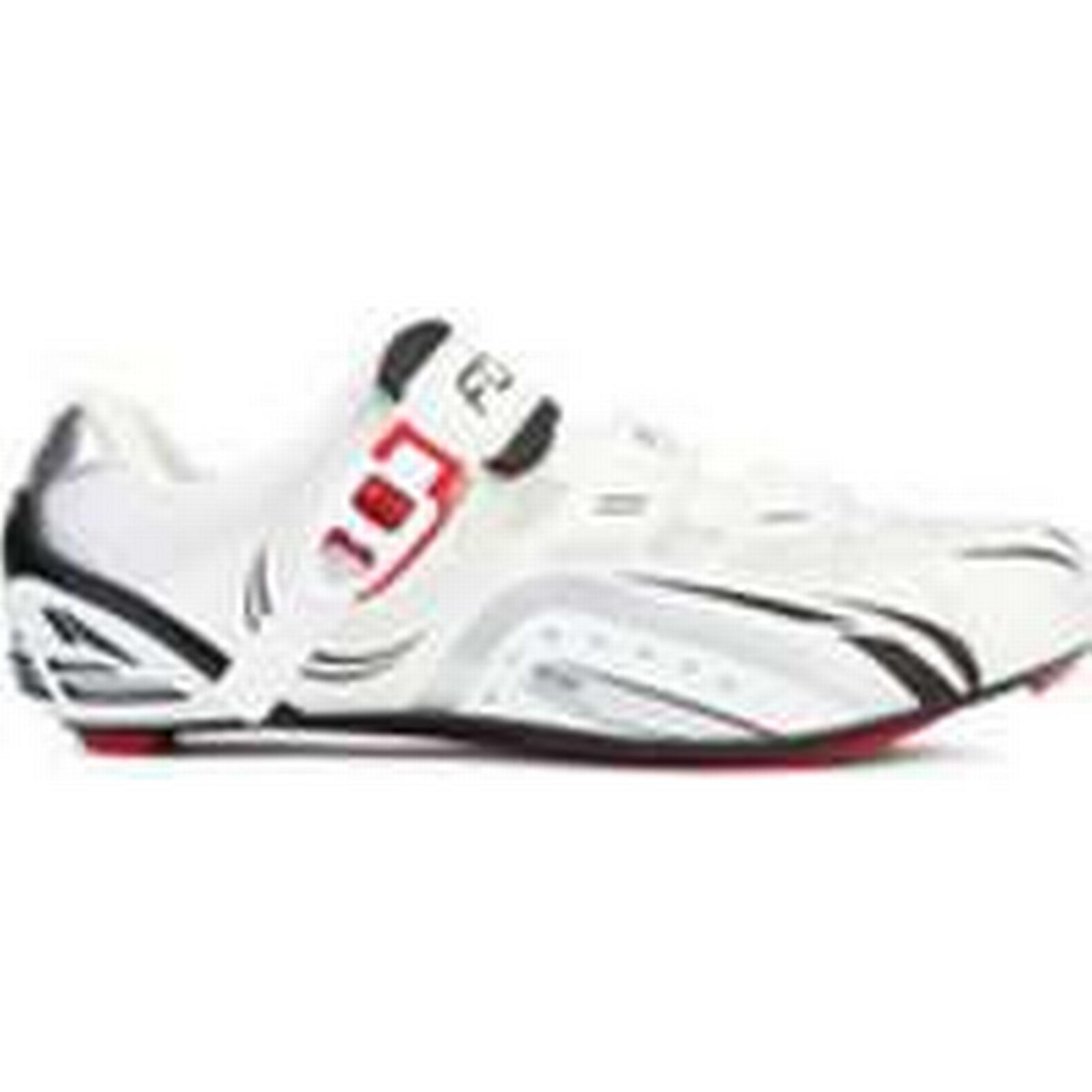 Force Race White Carbon Cycling Shoes - White Race - UK 6.5/EU 40 - White 3a0479