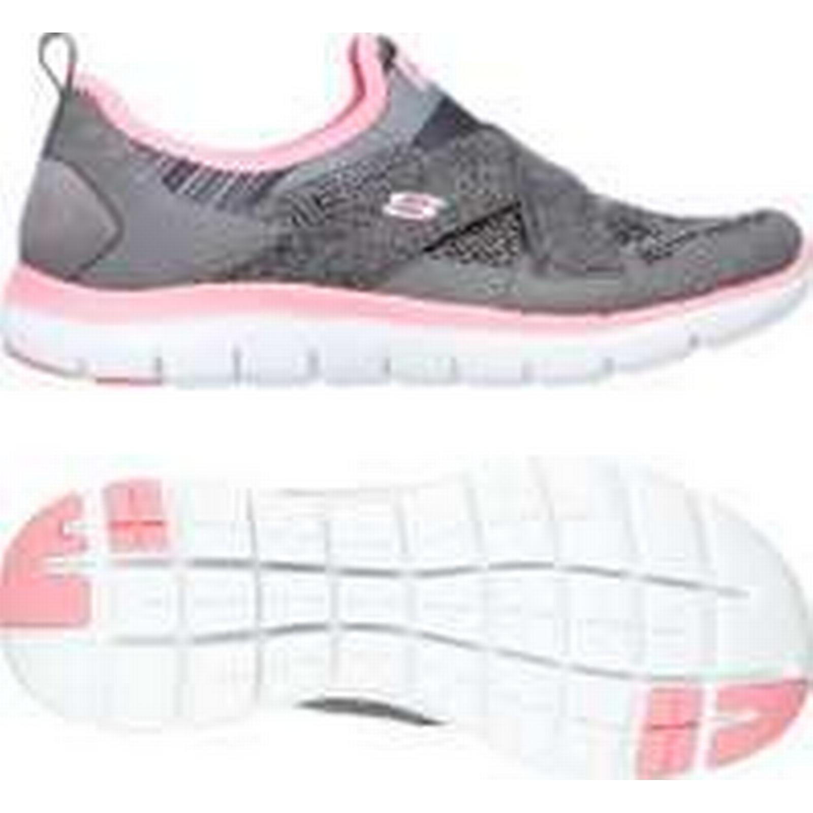 Skechers Sport Slip Flex Appeal 2.0 Ladies Slip Sport On Athletic Shoes - Grey, 5.5 UK 25ee8b
