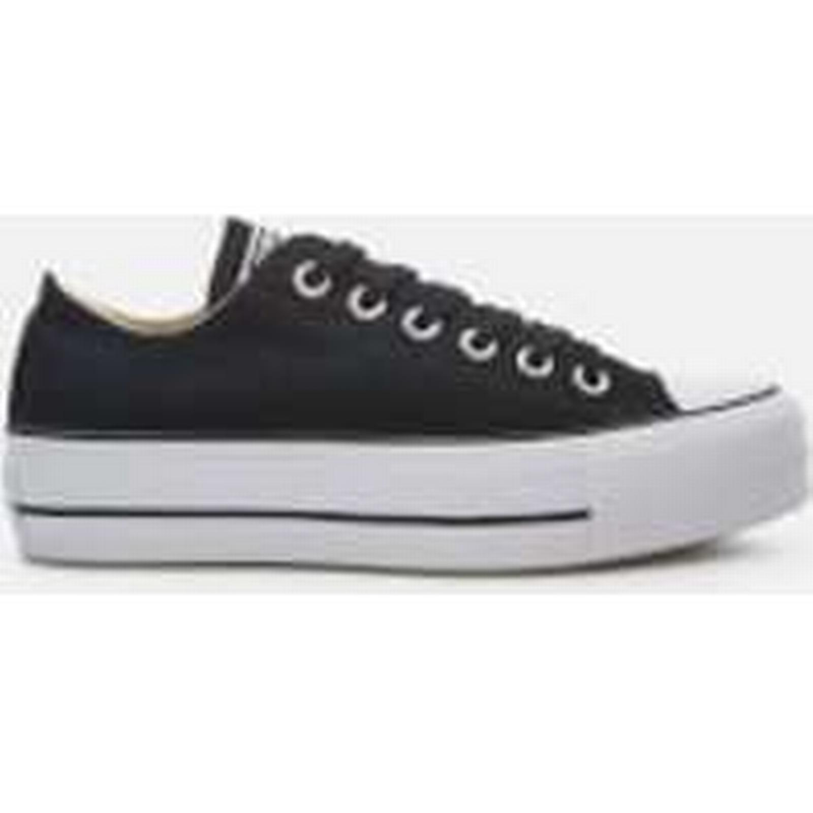 Converse Women's Chuck Taylor Trainers All Star Lift Ox Trainers Taylor - Black/White - UK 4 - Black eeecc6