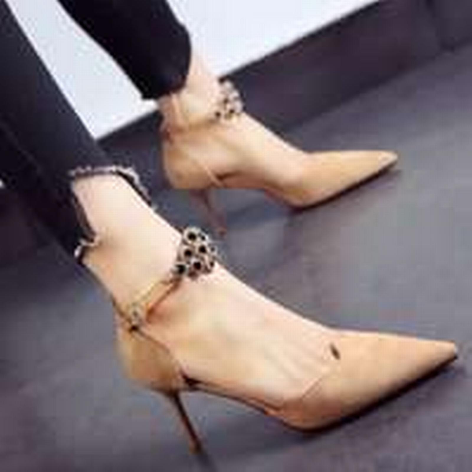Bonanza (Global) strap pp363 Sweet slides ankle strap (Global) pump, red sole,US Size 4-8.5, apricot 2552a6