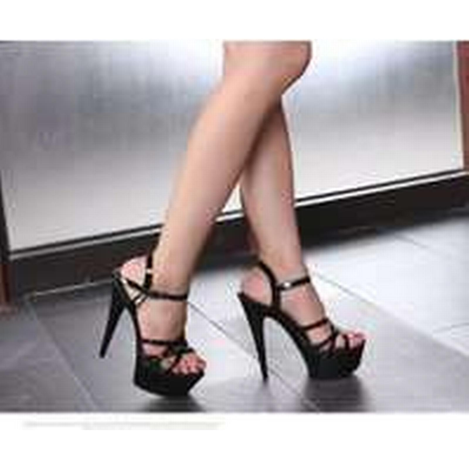 Bonanza (Global) ps360 awesome 15 cm strappy 4-9.5 sandals, patent leather,US Size 4-9.5 strappy black ecb319