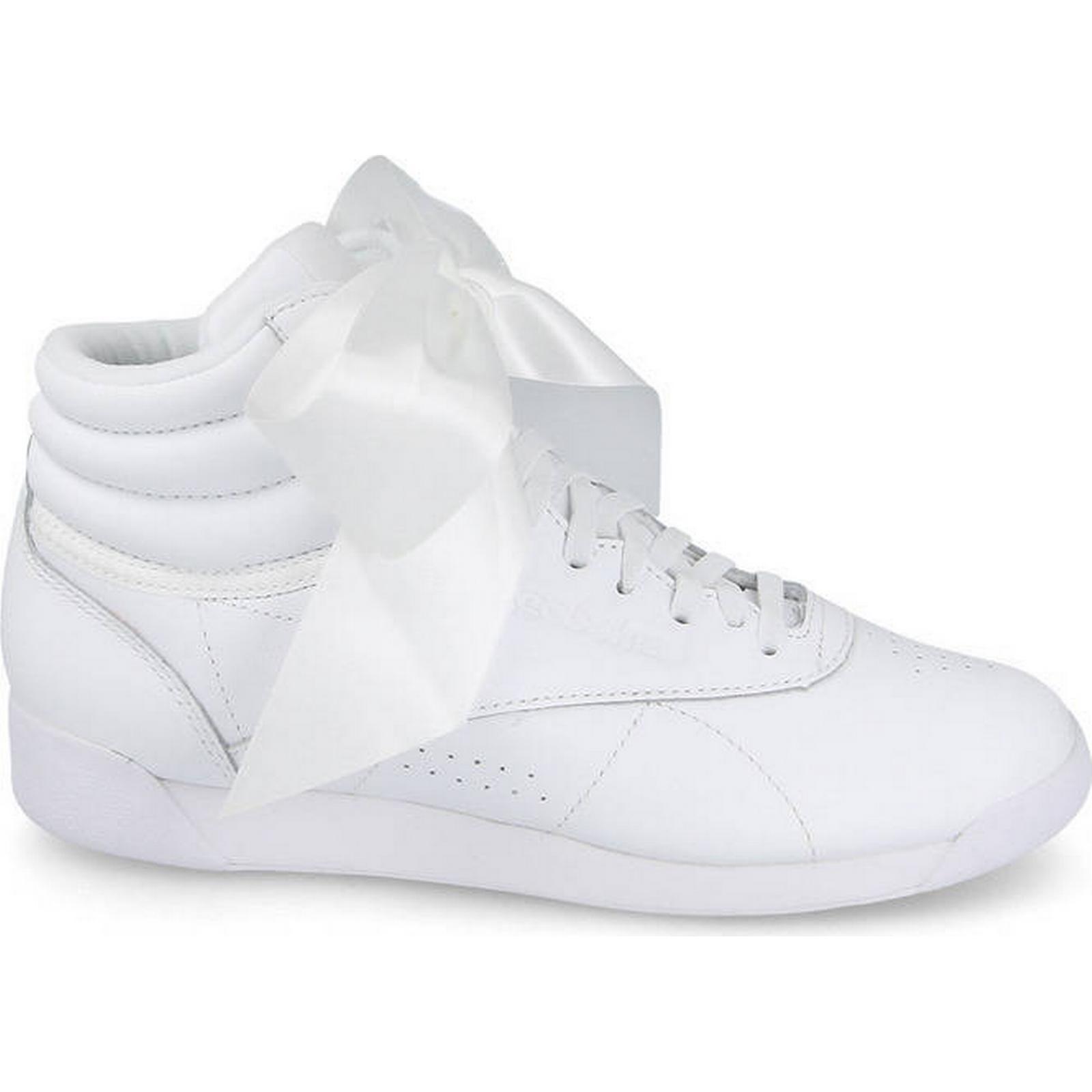 Reebok Classic Women's Shoes sneakers Reebok WHITE Freestyle Hi Satin CM8903 WHITE Reebok Size 38 00908d