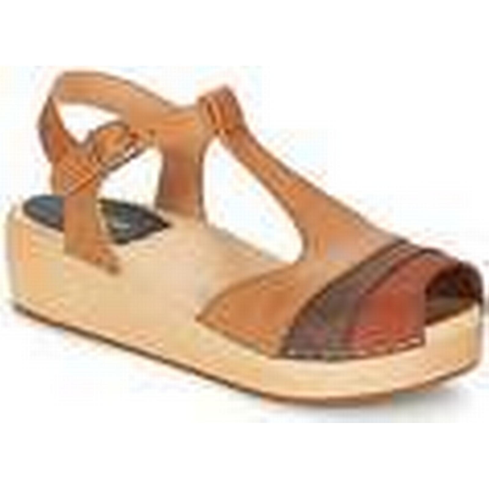 Swedish women's hasbeens  90'S-T-STRAP-WEDGE  women's Swedish Sandals in Brown 192aba