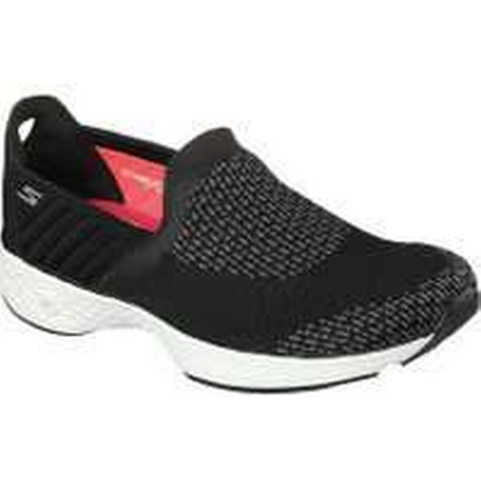 Skechers Go On Walk Sport Supreme Slip On Go Ladies Walking Shoes - Black/White, 6.5 UK a4963a