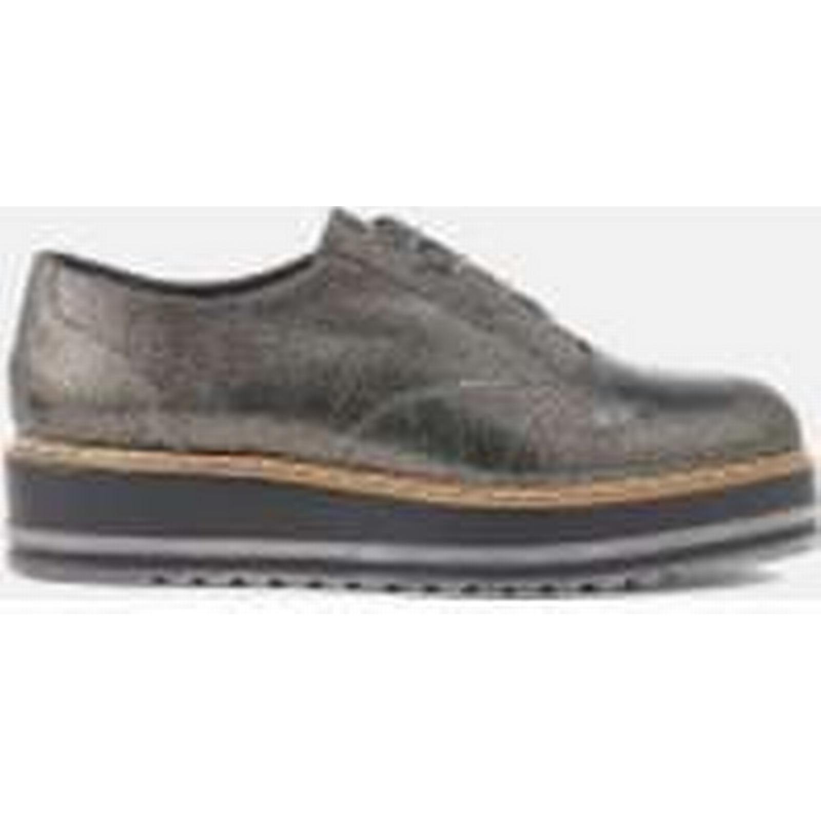 Dune Women's Follow Leather - Oxford Shoes - Pewter - Leather UK 7 - Silver dd80d4