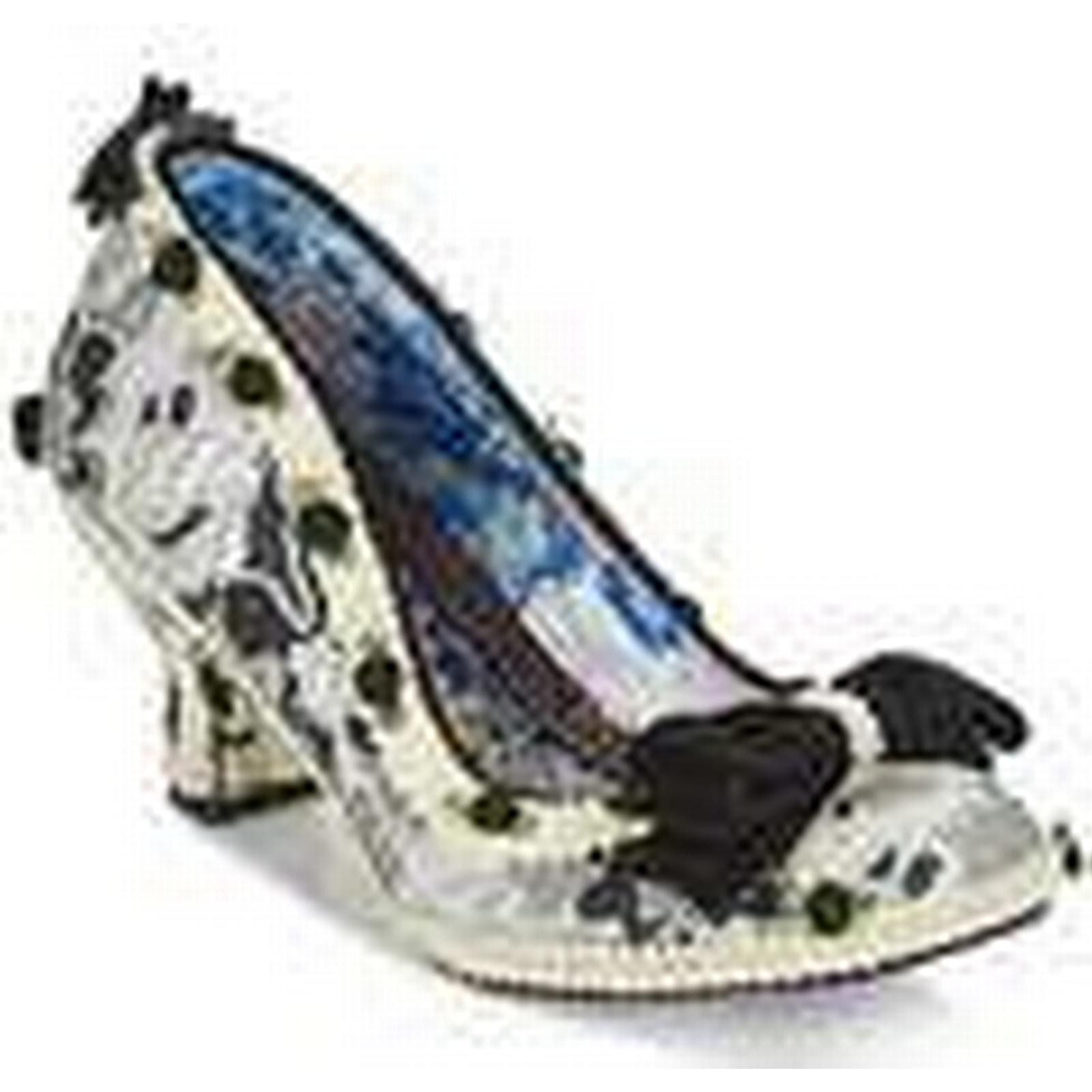 Irregular Choice  BISH BASH BOW  women's women's  Court Shoes in Silver 2b3be4