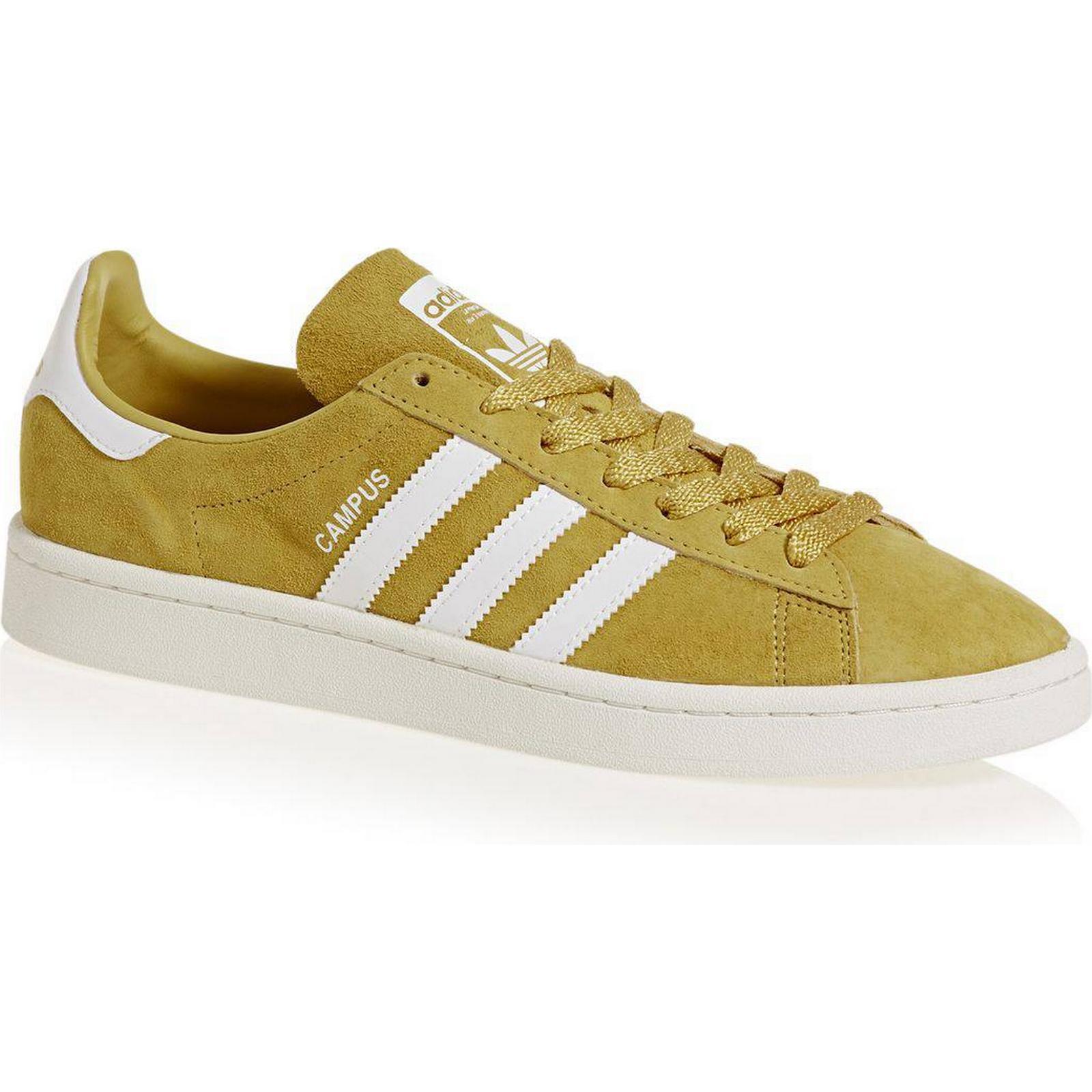 Adidas Originals Trainers - Pyrite/White/Chalk Adidas Originals Campus Trainers - Pyrite/White/Chalk - White 69d005