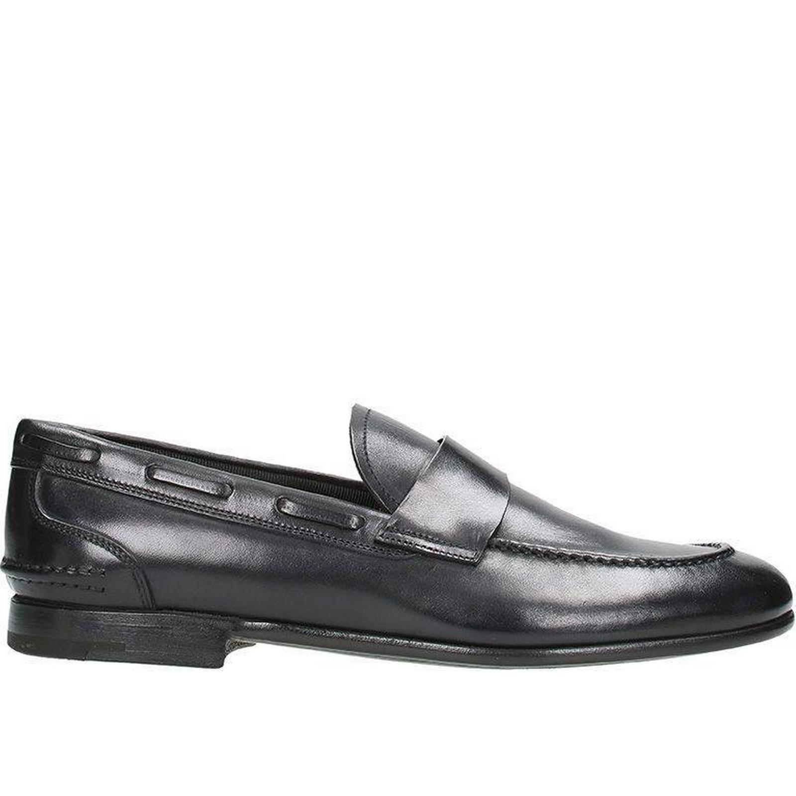 Gentlemen/Ladies:Premiata Black Leather Leather Leather Loafers:shopping offer 0bc48b