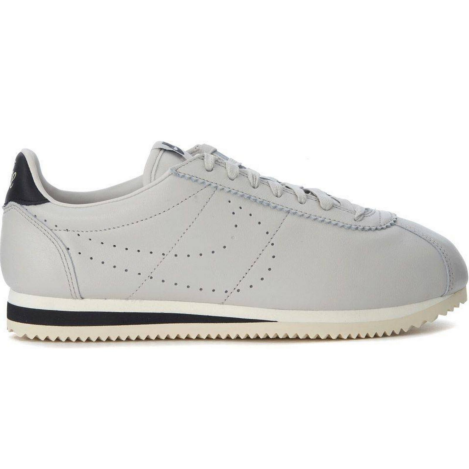 Nike Classic Cortez Leather Premium Premium Leather Light Grey Leather Sneakers 312f4d
