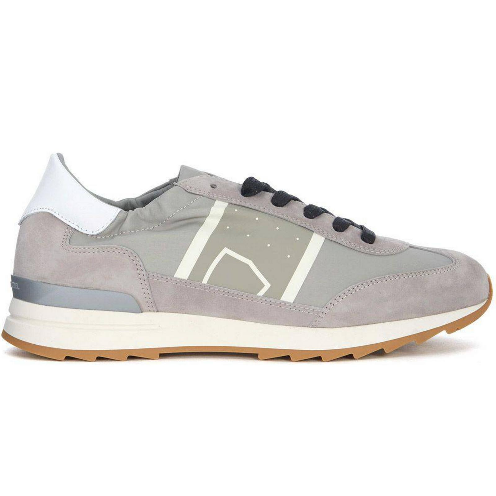 Philippe Model Toujours Grey Leather And And Leather Nylon Sneaker e55fa4