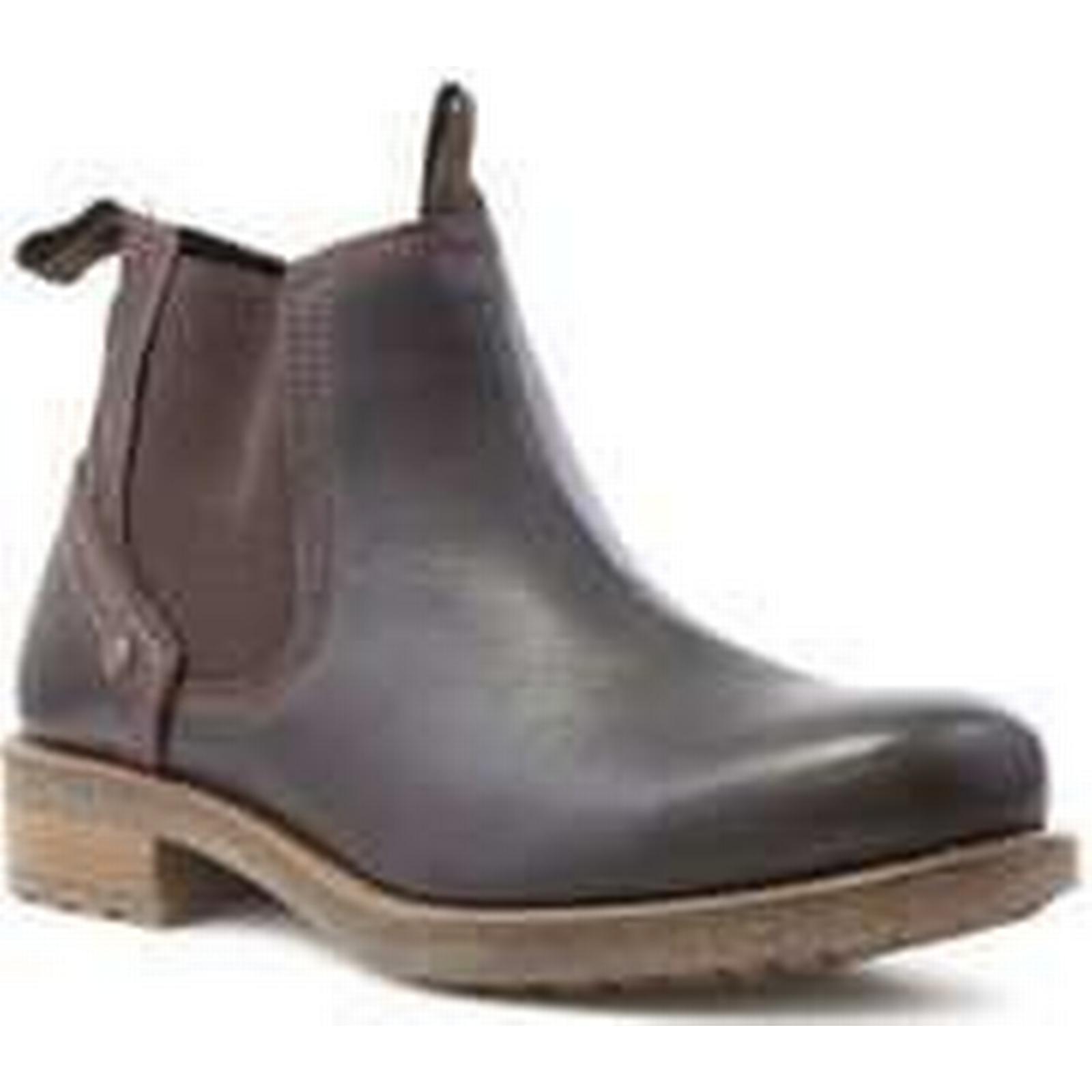 Wrangler Mens Mens Wrangler Brown Leather Chelsea Boot 822395