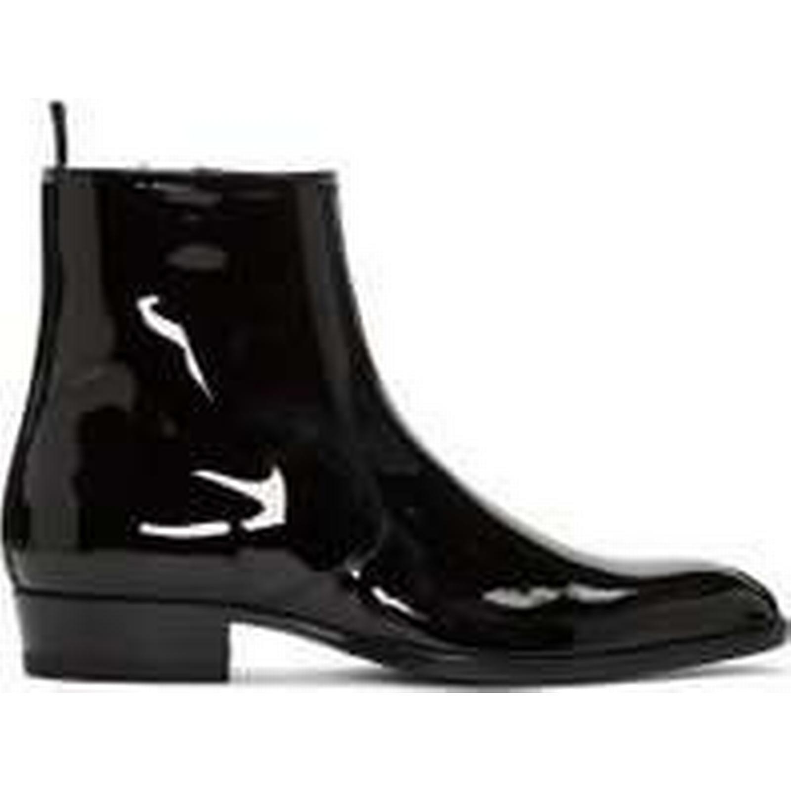 Bonanza Black (Global) Handmade Men Fashion Black Bonanza Patent Leather Boots, Men Side Zipper Ankle Boot e5f629