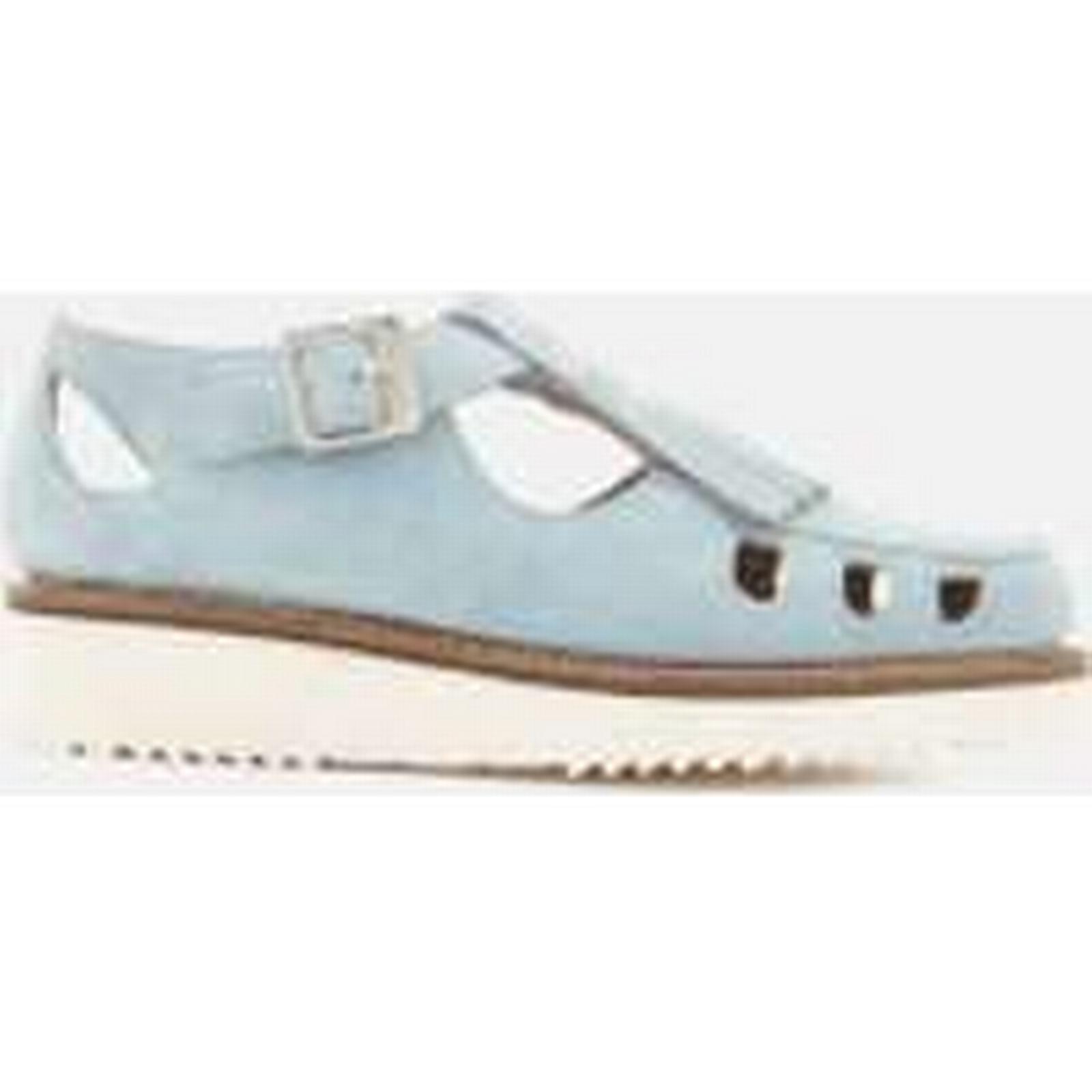 Grenson Women's Ethel - Suede Flats - Santorini - Ethel UK 4 - Blue 8f6b0c