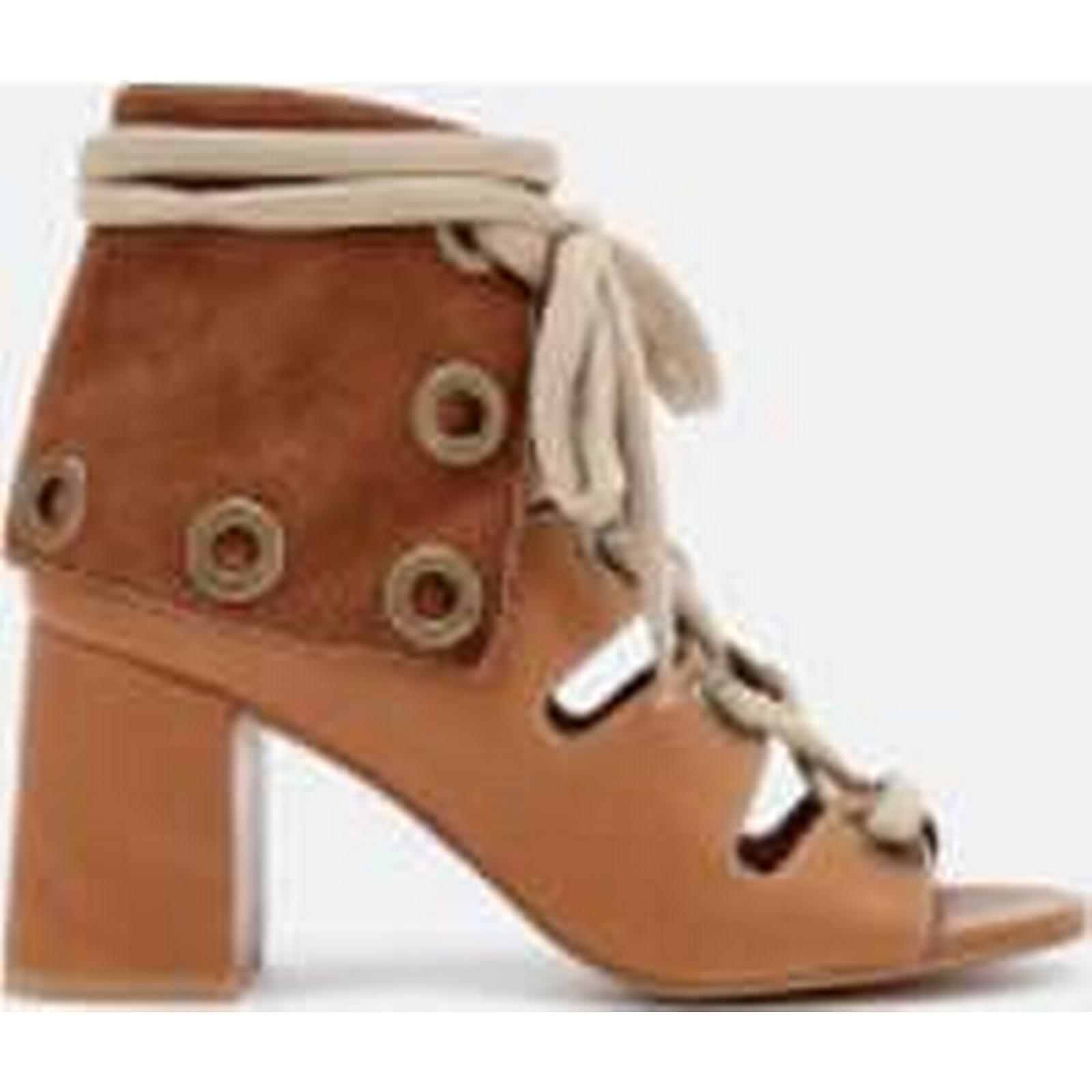 See By Heeled Chloé Women's Calf Leather Heeled By Sandals - Cuoio - UK 4 - Tan dcdb4c