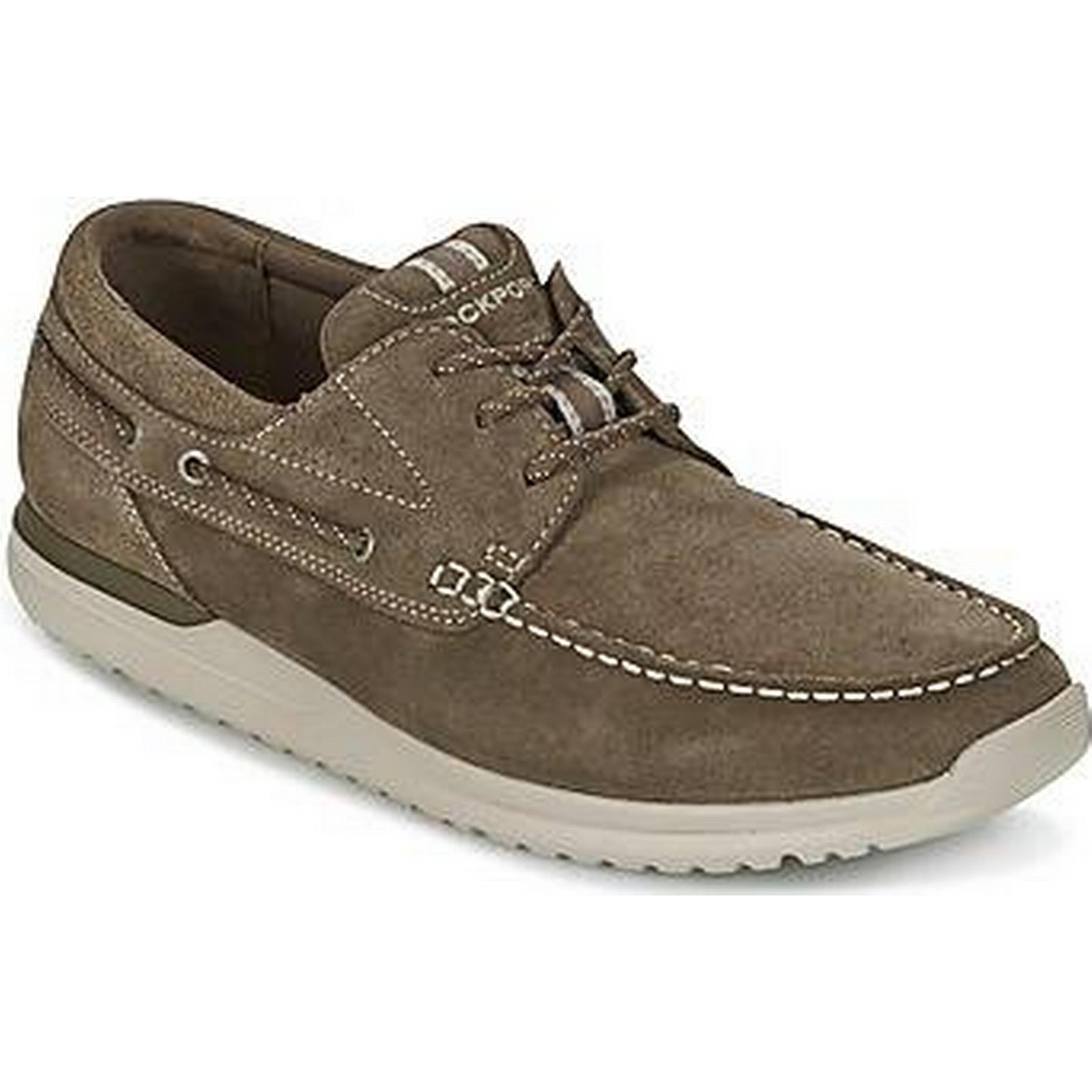 spartoo.co.uk rockport langdon  yeux yeux yeux ox hommes & #  ; s des chaussures de bateau à Marron  6ac258