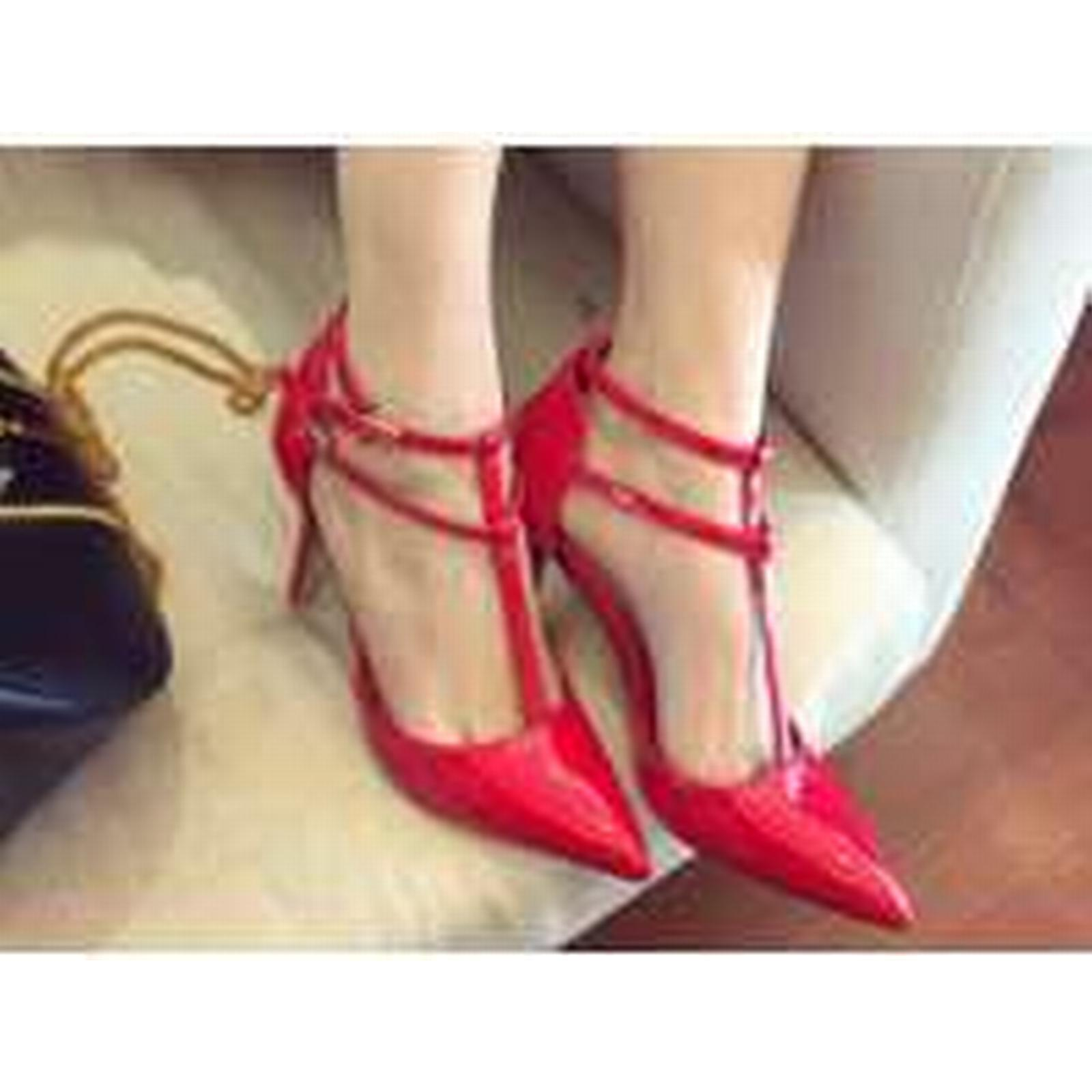 Bonanza (Global) pp314 cutie in T-type strappy pointy pump in cutie candy color, US Size 4-8.5 red b1a01e