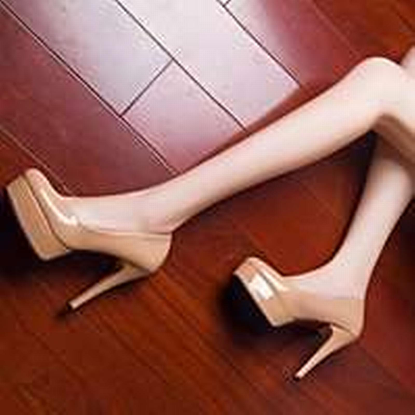 Bonanza (Global) pp285 elegant candy color Size thick platform heels, US Size color 4-10, nude 4d592c