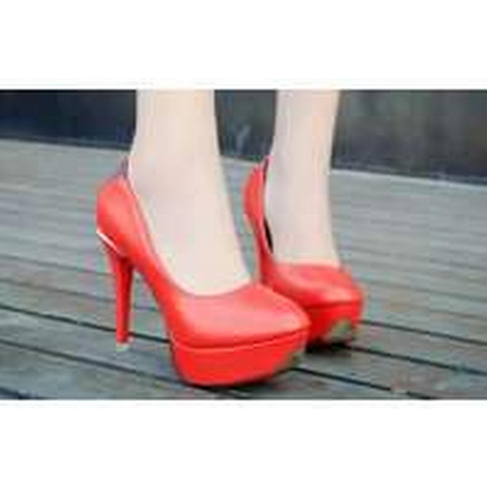Bonanza (Global) pp309 Shimmering rhinestones 4-9.5 high-heeled pump US Size 4-9.5 rhinestones red da3a28