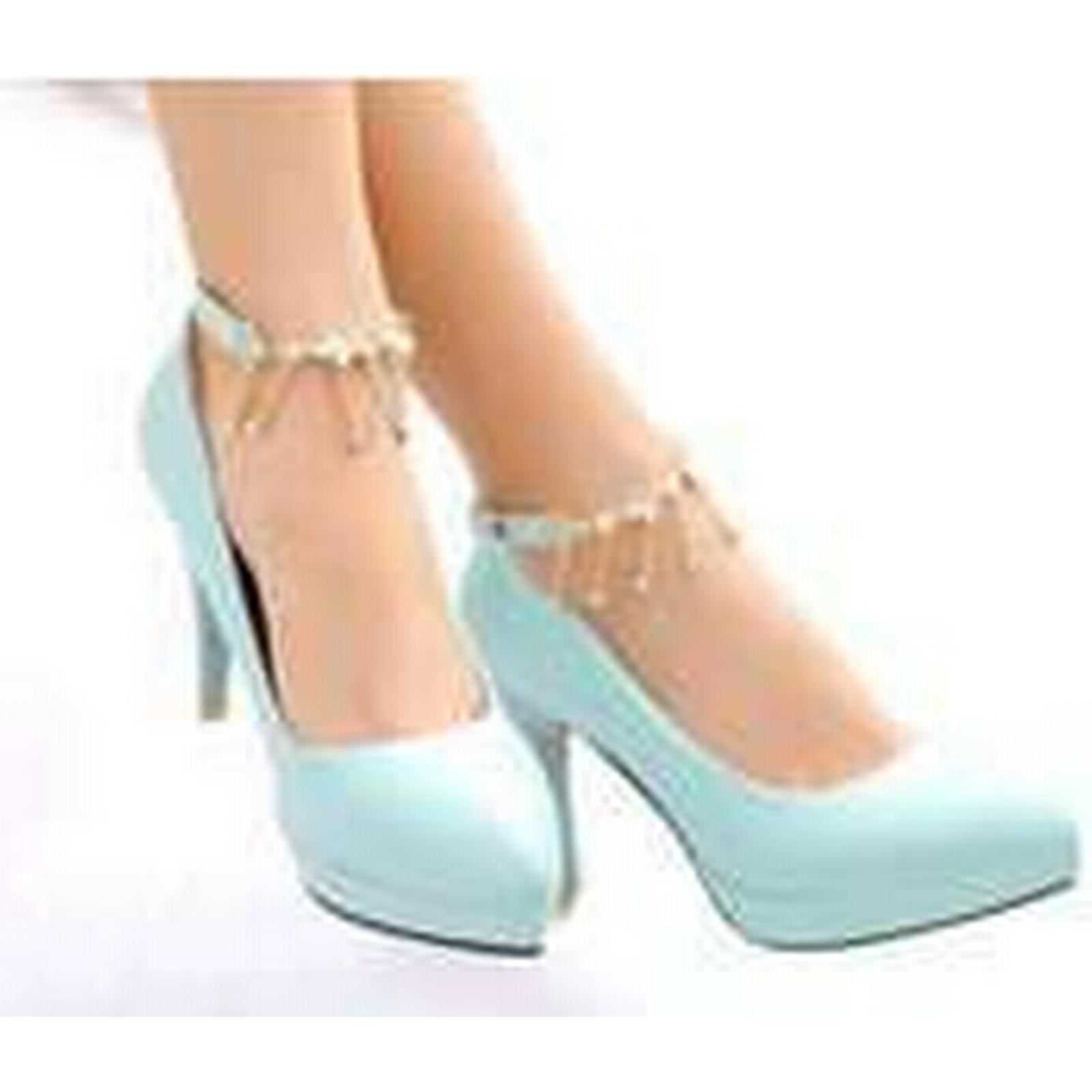 Bonanza (Global) pp331 elegant strappy pump with Size fringe, high heel,exttra size.US Size with 2-10,blue 94f69e