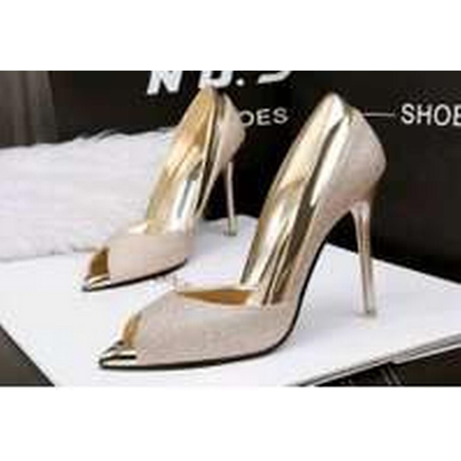 Bonanza (Global) pp311 European US style sequined pointy pump, US European Size 4-9 gold 59ebdb