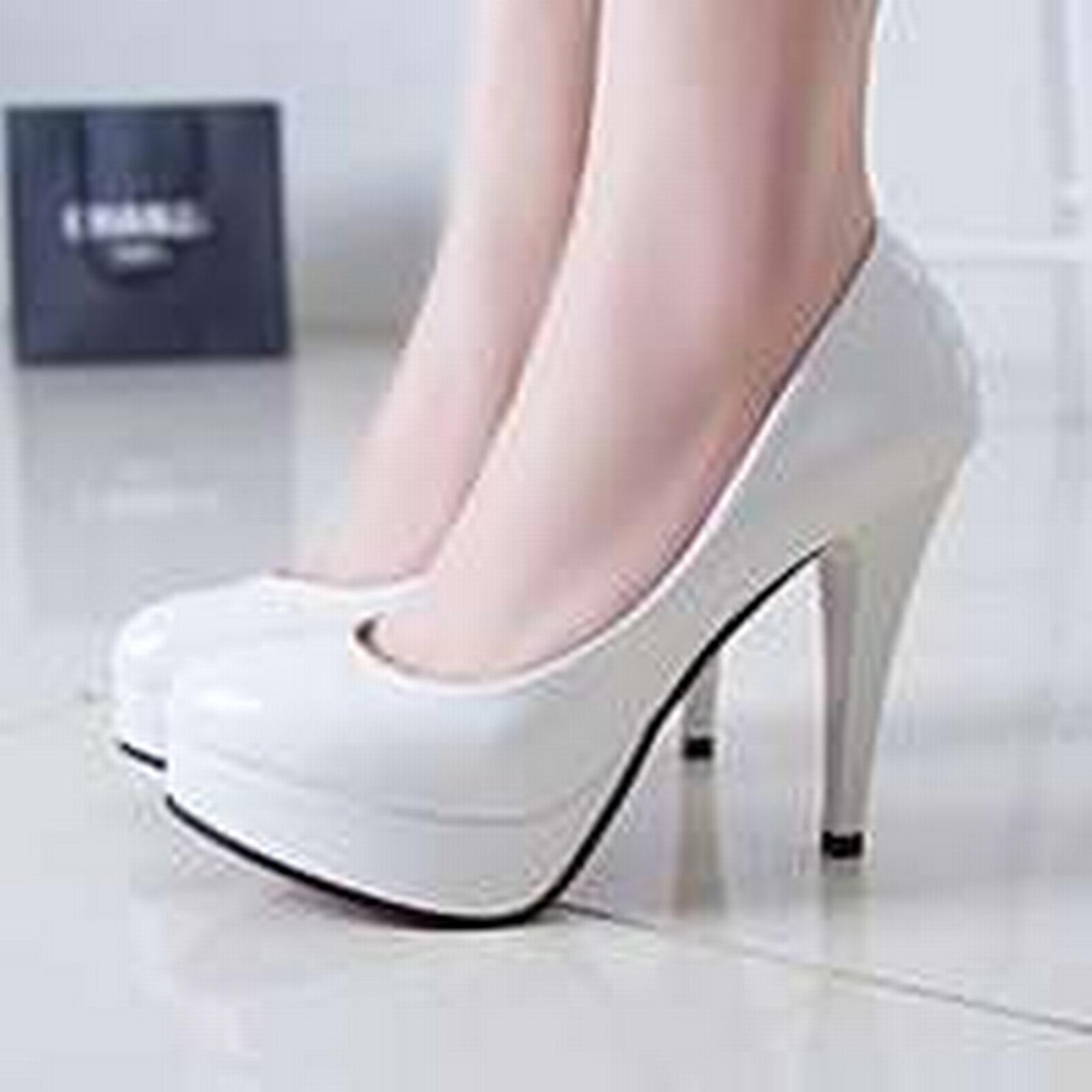Bonanza (Global) slim pp088 European style candy color pumps w slim (Global) high heels,size 34-43,white e736cb