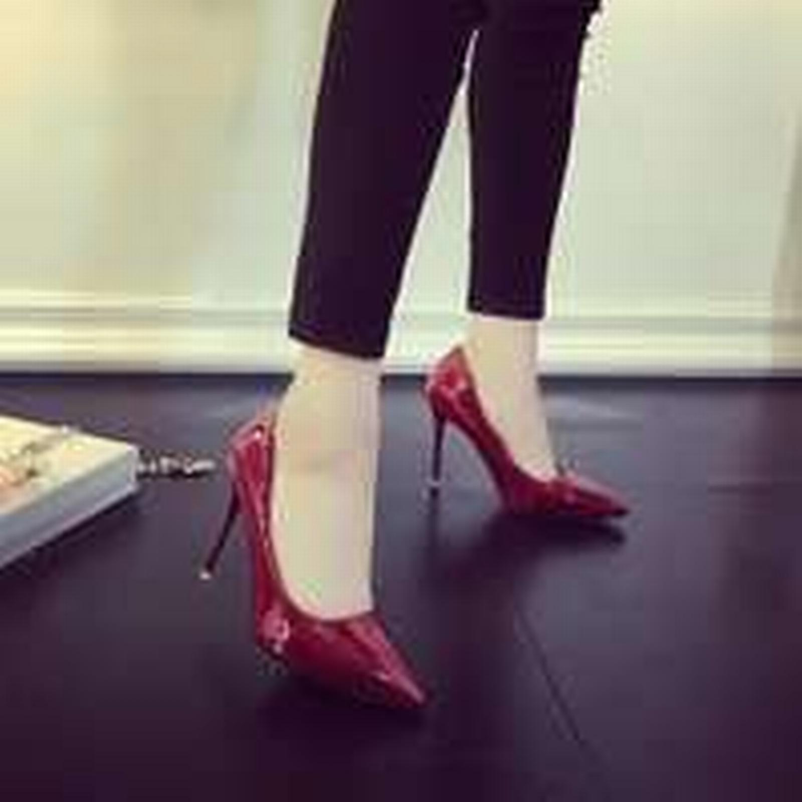 Bonanza (Global) pp323 elegant pump 10 cm heel pointy pump elegant in candy color, US Size 4-9 burgundy c54e50
