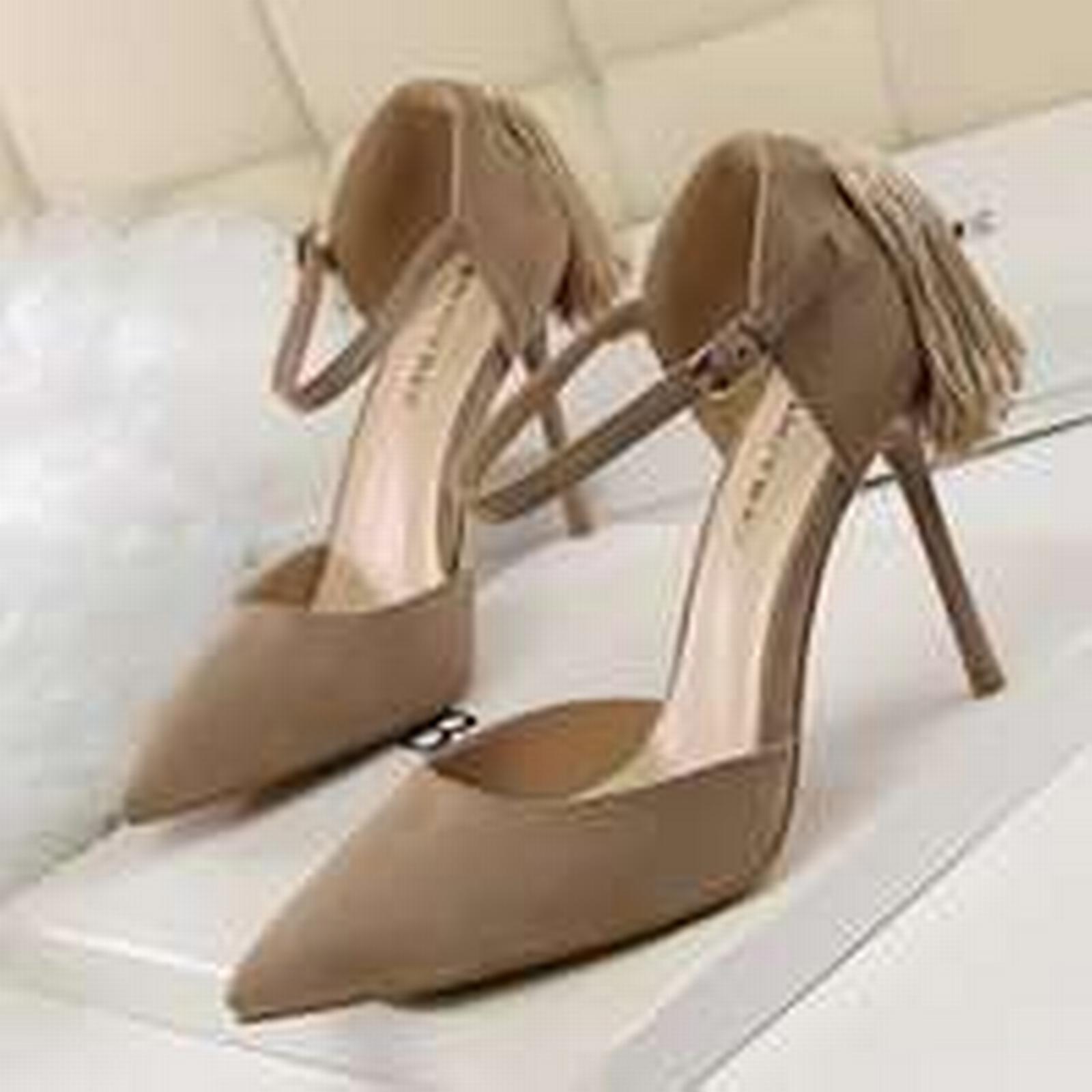 Bonanza ankle (Global) pp257 elegant pointy ankle Bonanza sandals w big fringe, nubuck, US Size 4-8, khaki 2ed385
