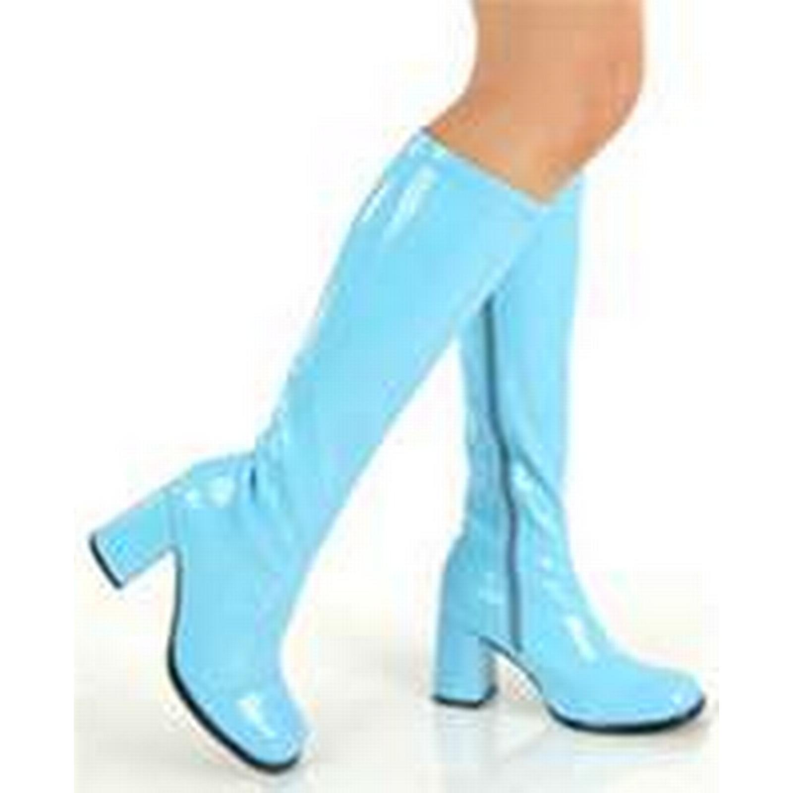 Bonanza (Global) pb078 Extra large leather,size coloful knee-high boots, pu leather,size large 34-46, blue d4a8cc