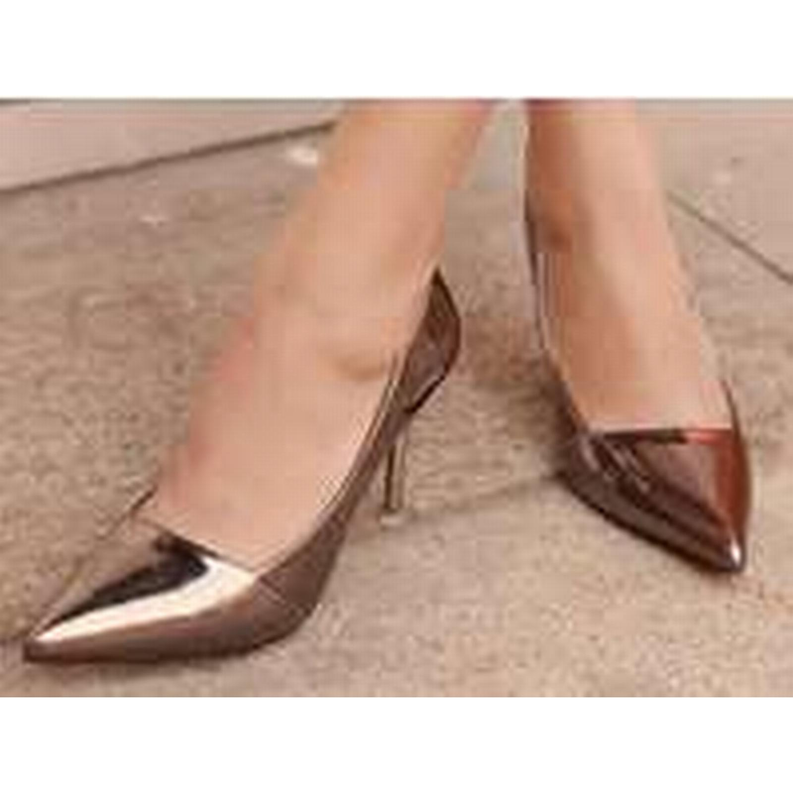 Bonanza (Global) pump, pp315 Highly colored pointy pump, (Global) US Size 4-8.5 gold ab1968