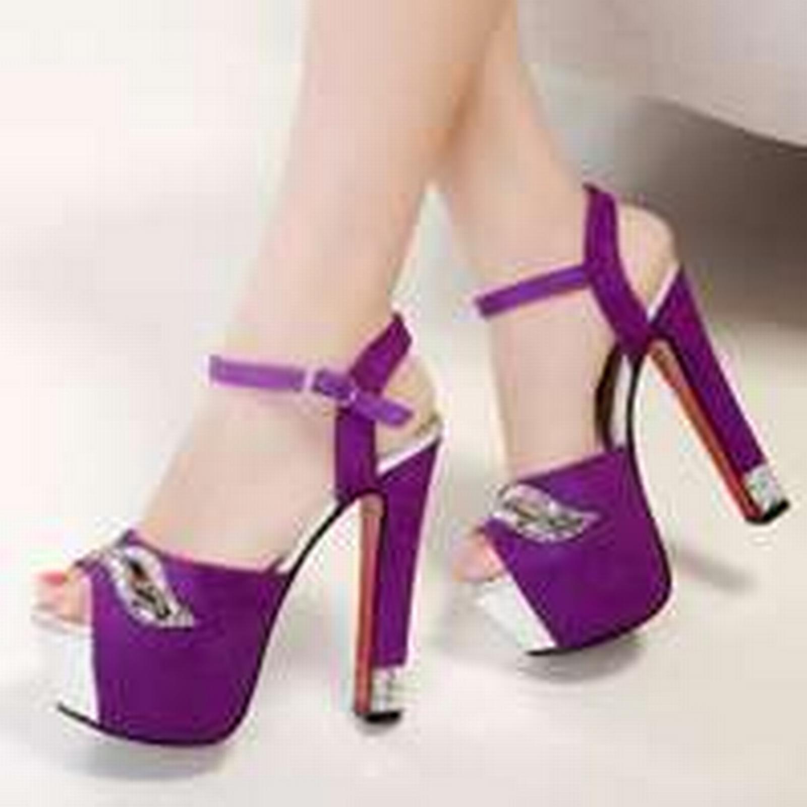 Bonanza (Global) ps332 elegant US rhinestone sandals, suede leather, US elegant Size 4-9, violet c703c7