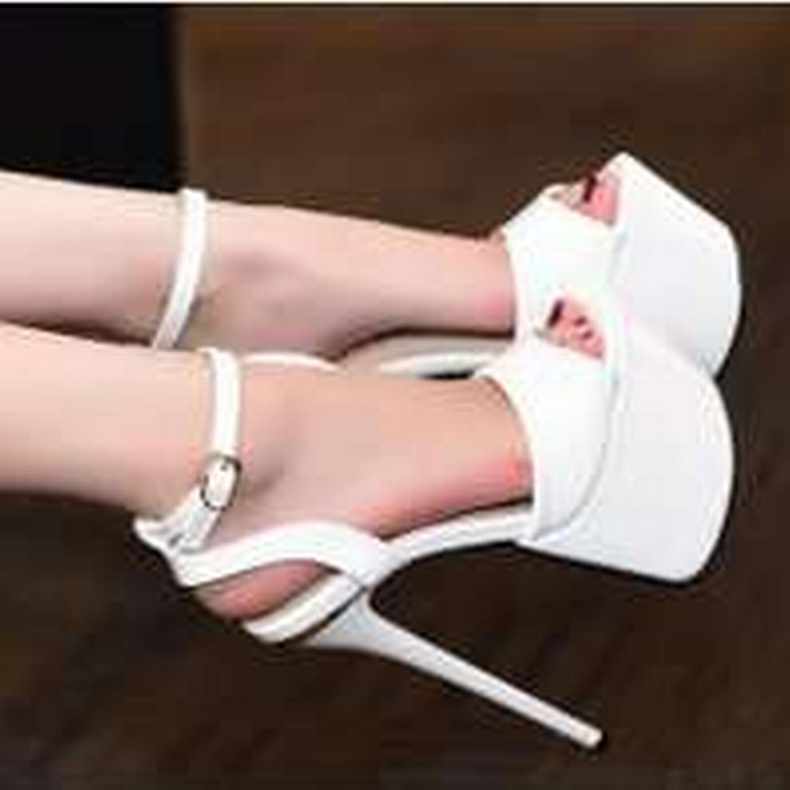 Bonanza (Global) ps306 Sexy 17 supper high heels sandals, 17 Sexy cm heels, US size 4-8, white b9df27