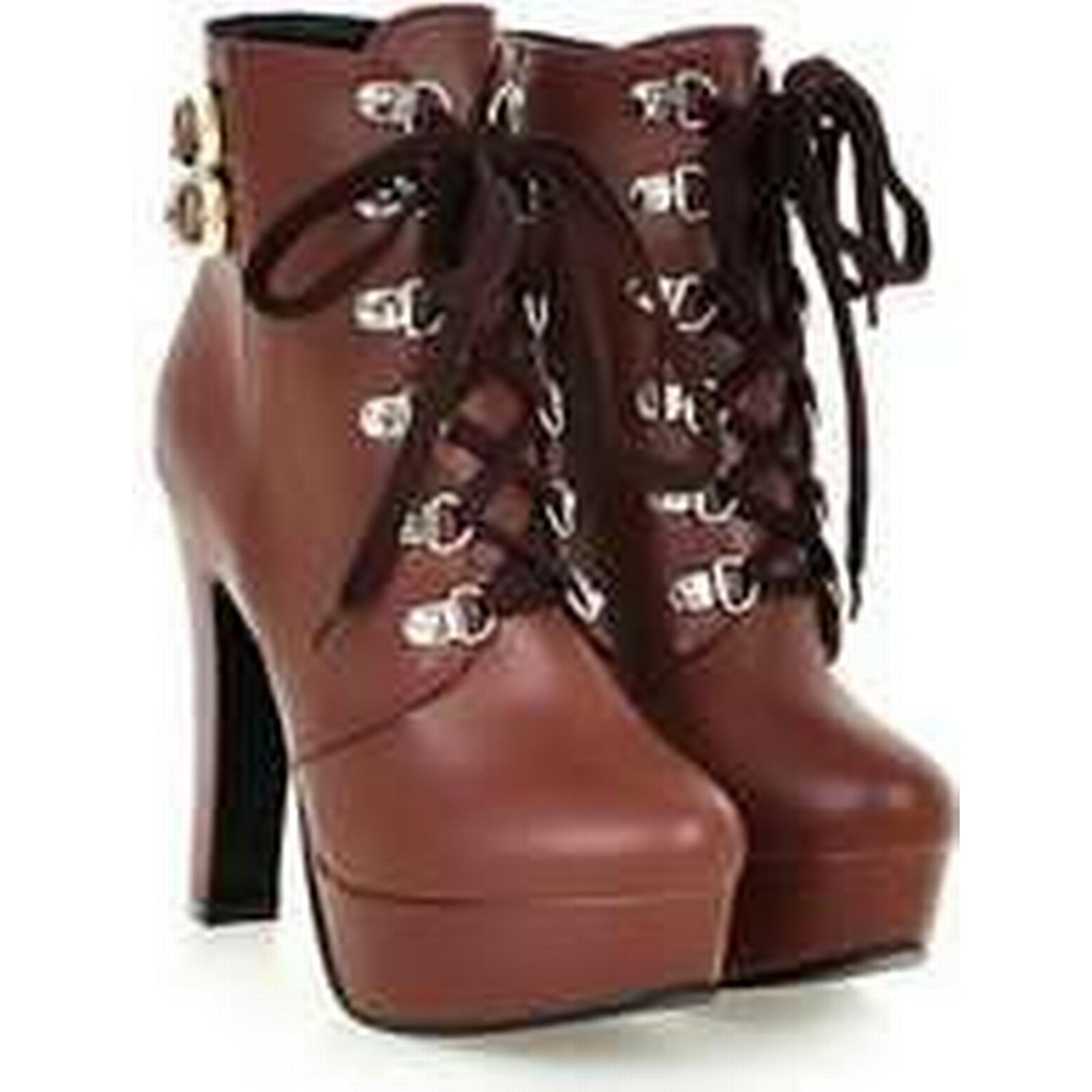 Bonanza (Global) PB106 size Stunning buckles booties,US size PB106 4-9, brown 7670f1