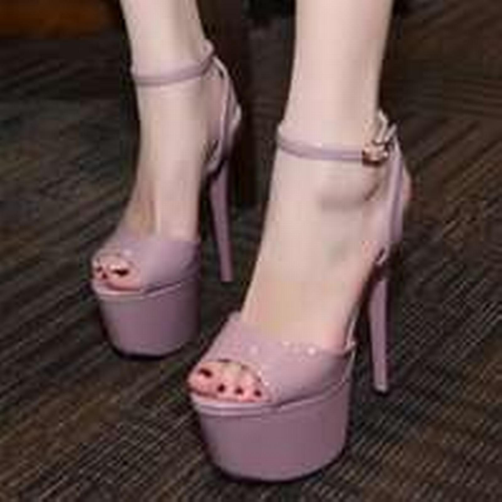 Bonanza (Global) ps306 Sexy supper high heels sandals, 17 cm violet heels, US size 4-8, violet cm 0983f4