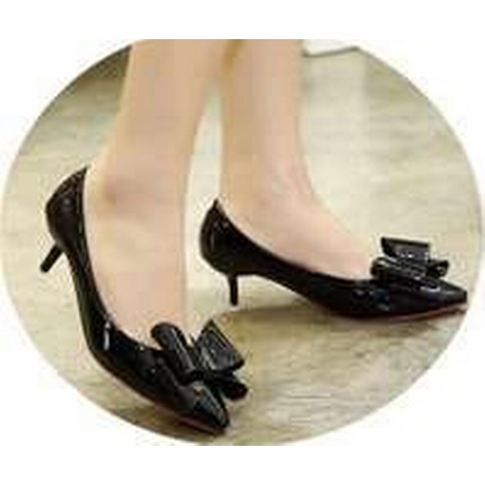 Bonanza (Global) US ps325 elegant bowtie pump, slim heels, US (Global) Size 3-9, black 1049ae