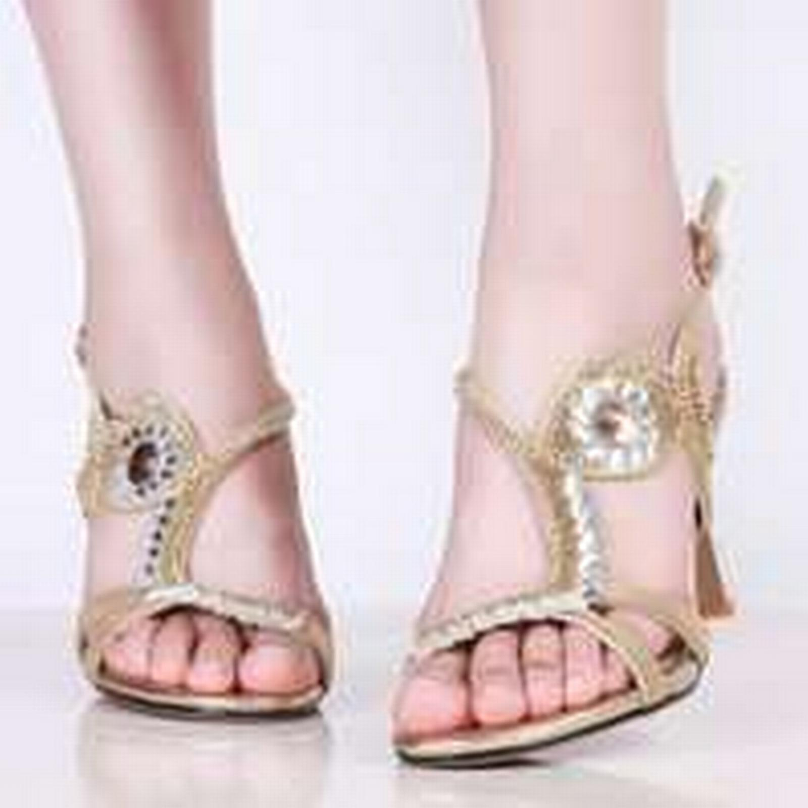 Bonanza (Global) PS058 size elegant genuine leather rhinestones ankle sandals, size PS058 34-39, silver b7203b