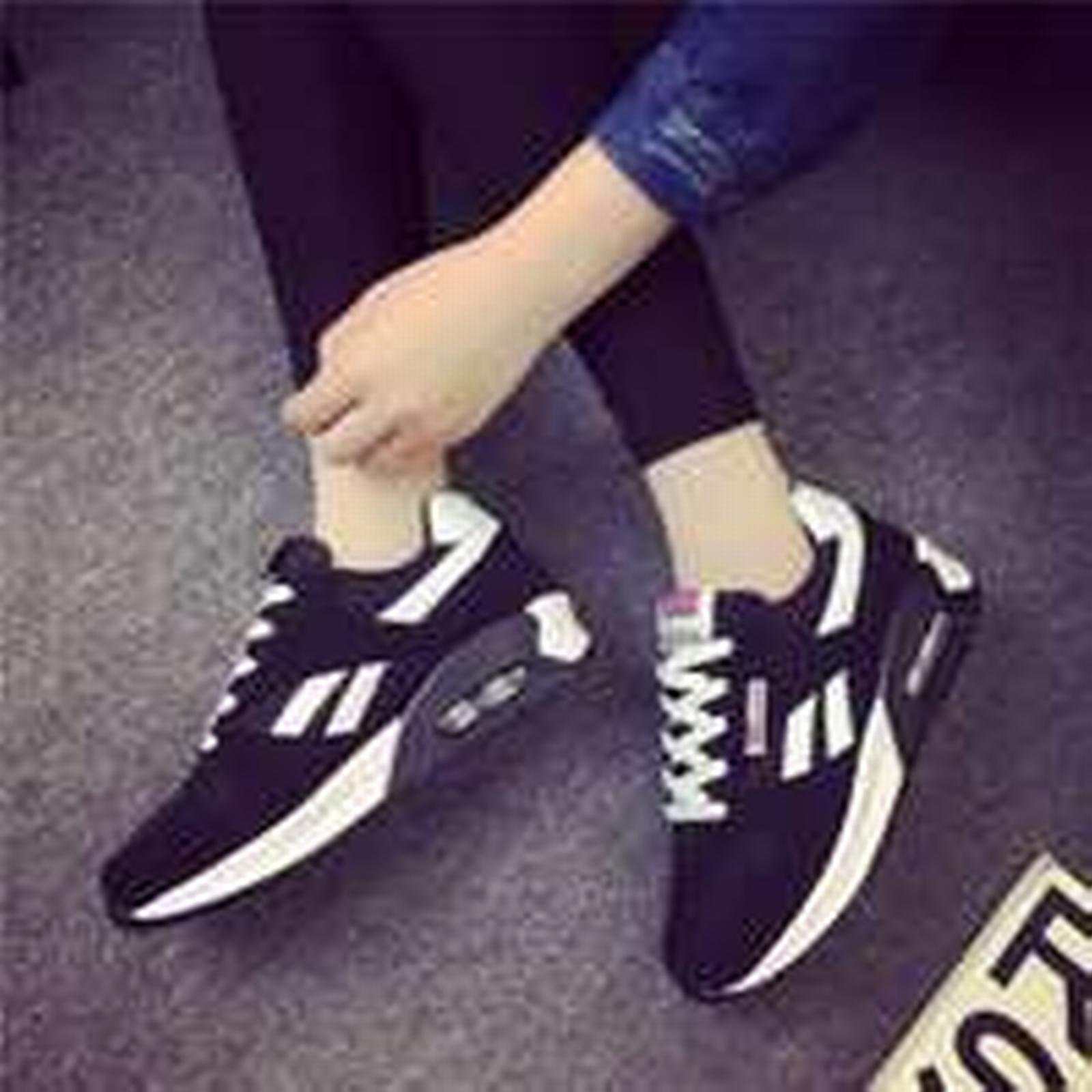 Bonanza (Global) pa020 Low-cut flat color,size heels air cushion sneaker,spell color,size flat 35-40, black/white 8d917a
