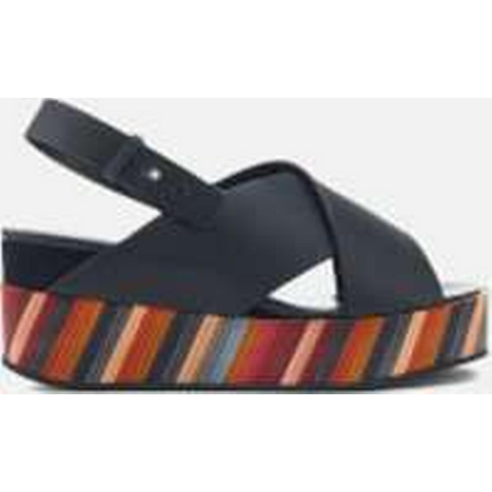 Paul Smith Women's Noe Swirl Flatform UK Sandals - Black - UK Flatform 4 - Black eb3782