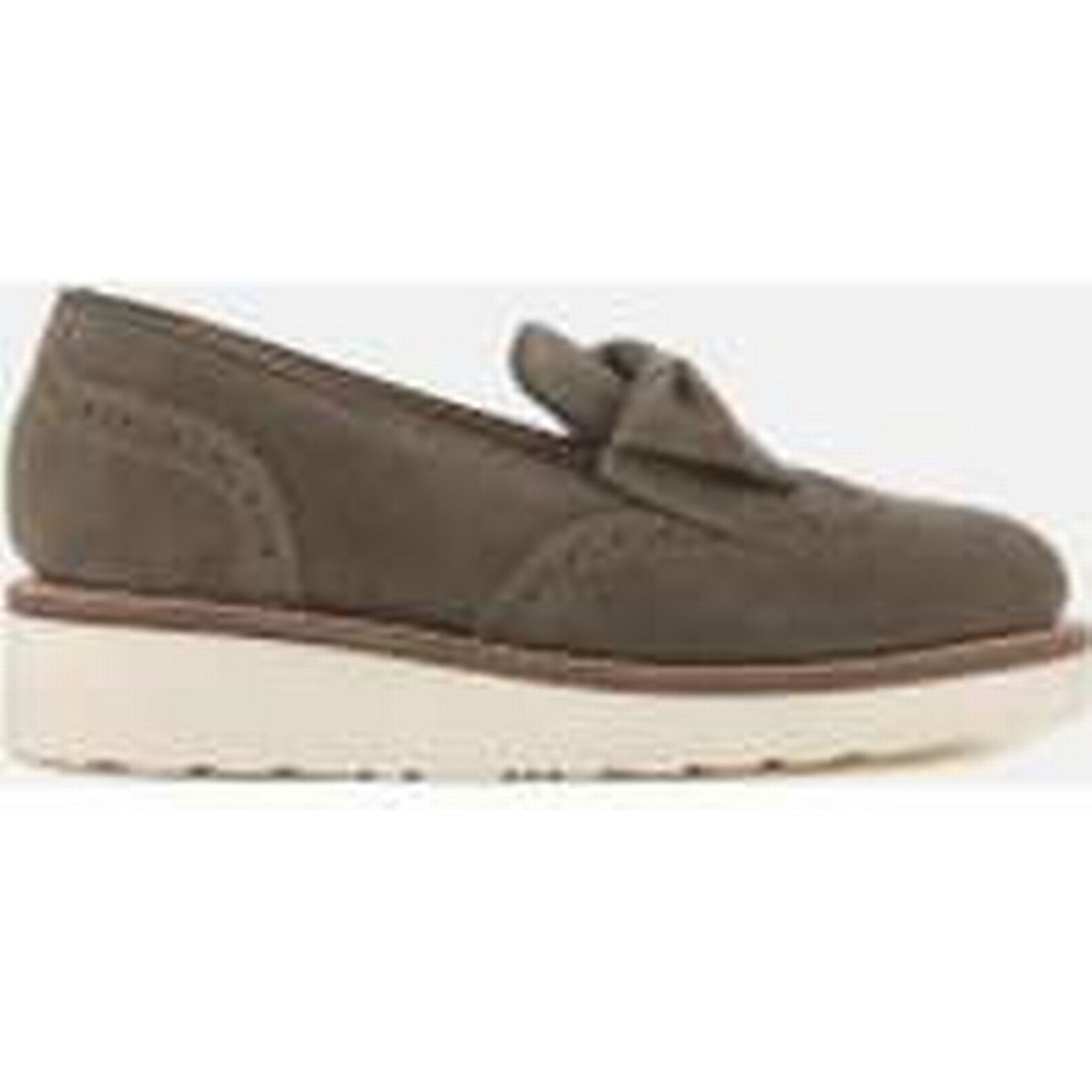 Grenson - Women's Kathleen Suede Slip On Flats - Vigogna - Grenson UK 3 - Grey 2b27ec
