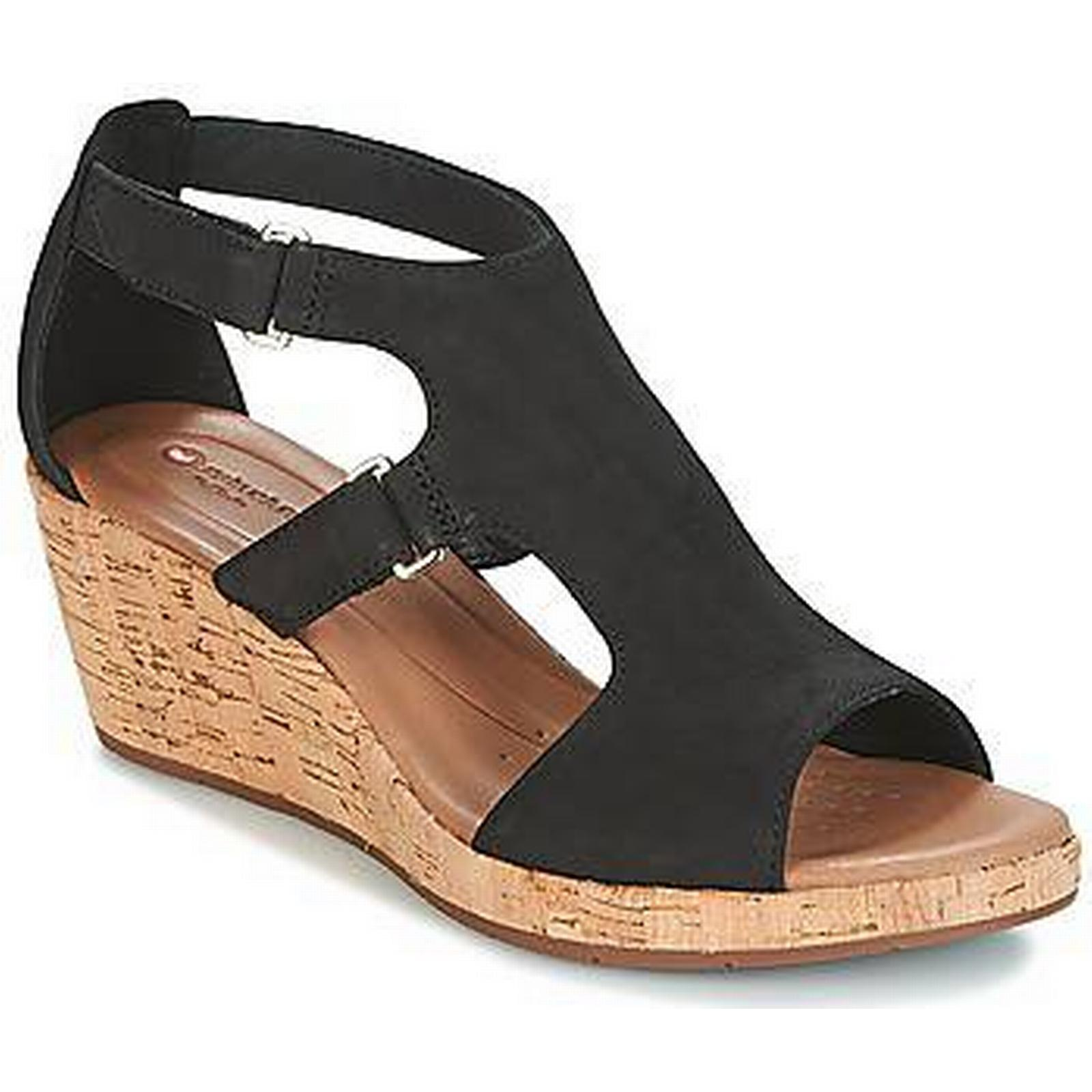 spartoo.co.uk clarks un plaza sangle femmes & en #  ; s les sandales en & noir 53aa0e