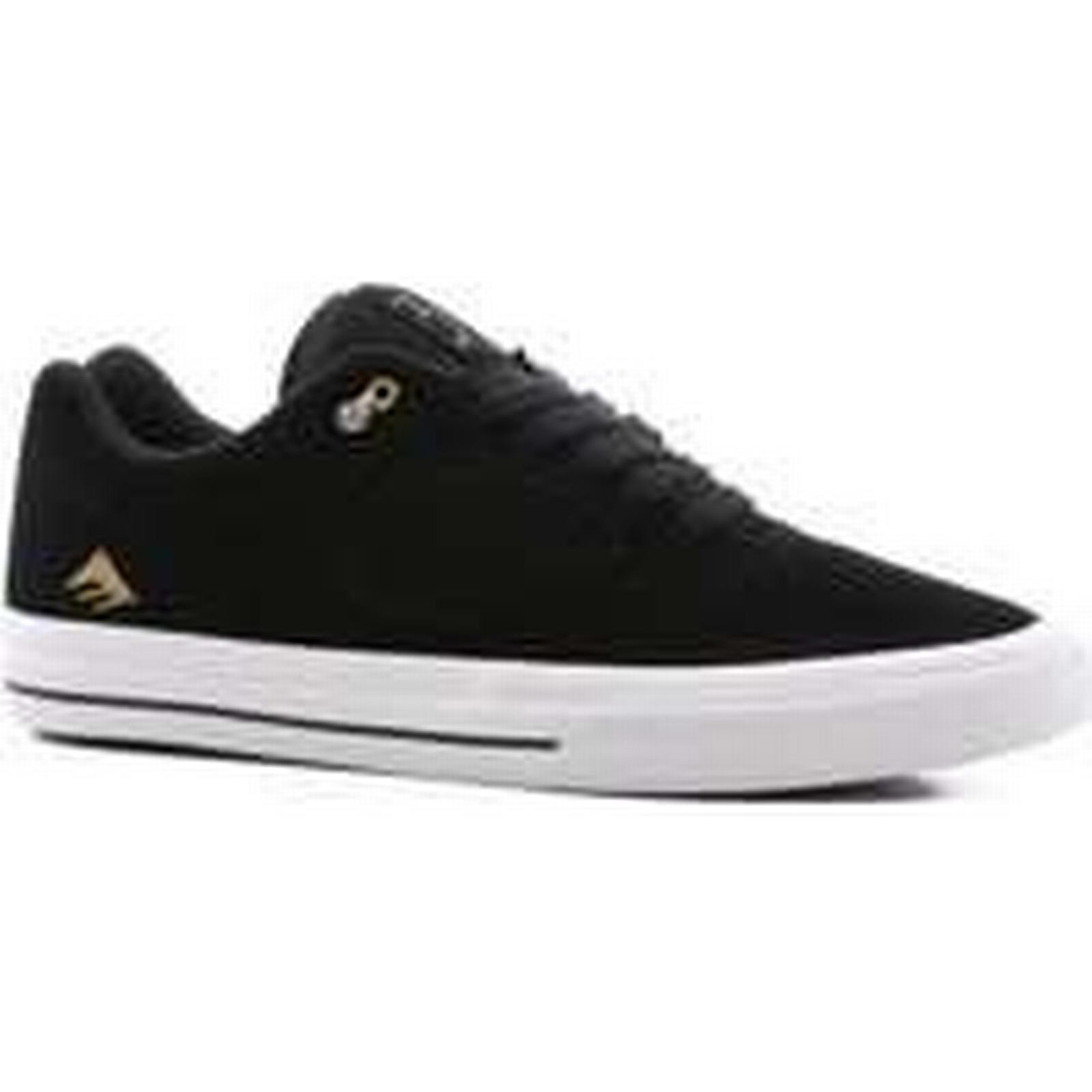Emerica Reynolds 3 Shoes G6 Vulc Skate Shoes 3 black/white/gold 347da4