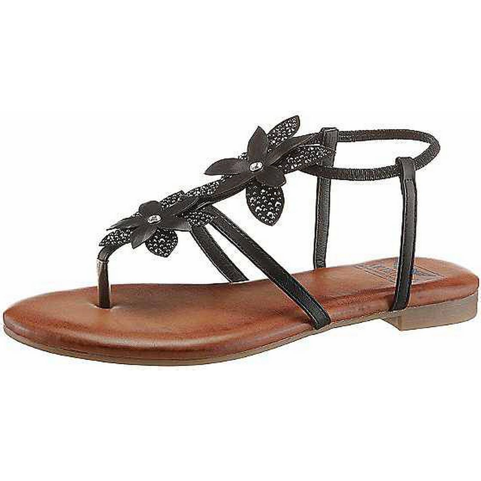 Arizona Rhinestone Floral Strappy Sandals shoes by Arizona:Gentleman/Lady:hot tide shoes Sandals e474f6