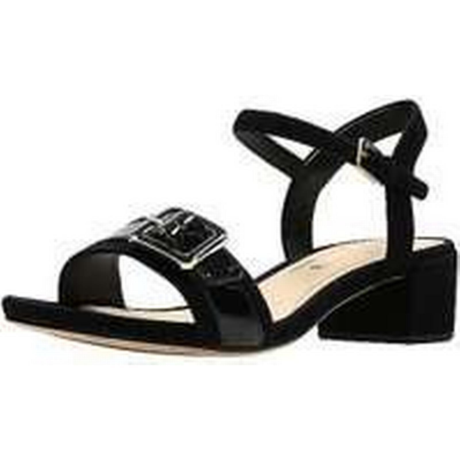 Clarks Black Low Heel Buckle Sandals Clarks by Clarks Sandals d0a7e3