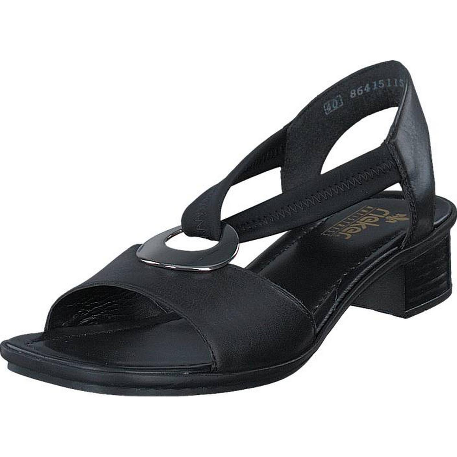 Rieker 62662-01 62662-01 Rieker Black, Shoes, Heels, Low-heeled Clogs, Black, Female, 38 b9a3ff