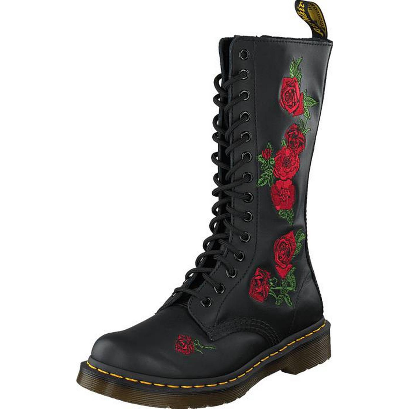 Dr Martens Vonda Black, Black, Vonda Shoes, High boots & Booties, High Boots, Grey, Female, 36 1bbe16